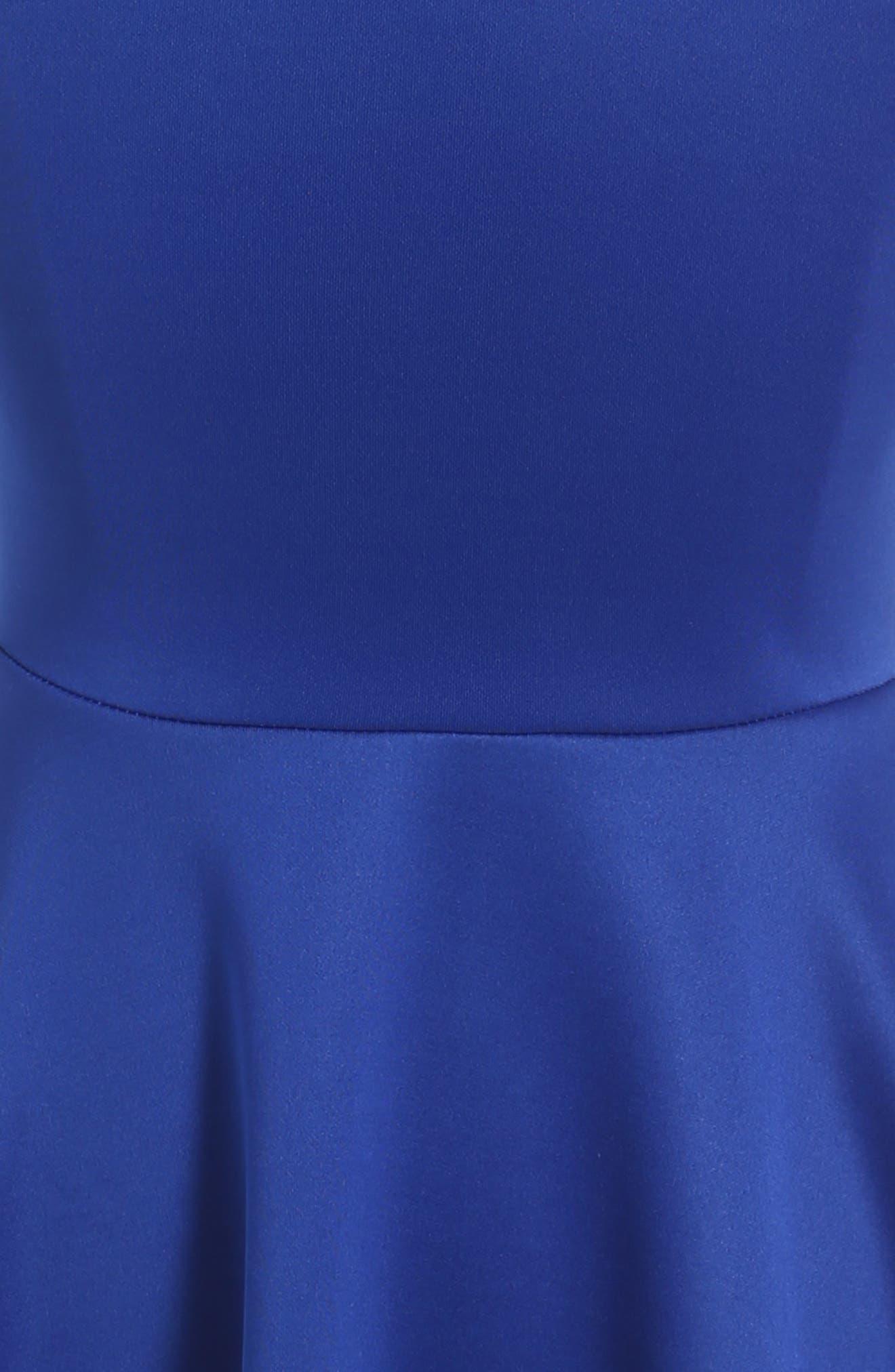 Lace Scuba Dress,                             Alternate thumbnail 3, color,                             420