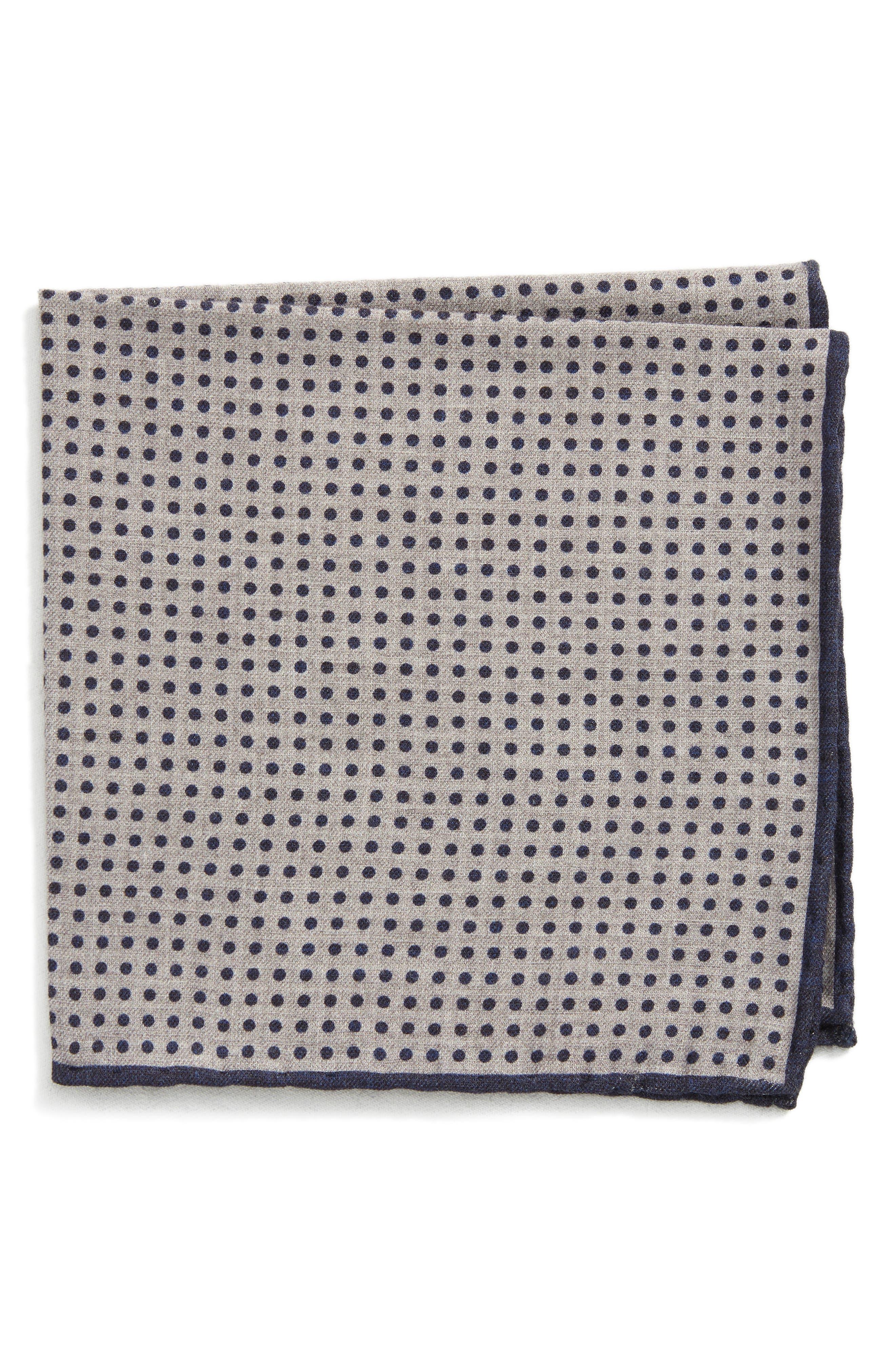 Dot Wool & Cotton Pocket Square,                             Main thumbnail 1, color,