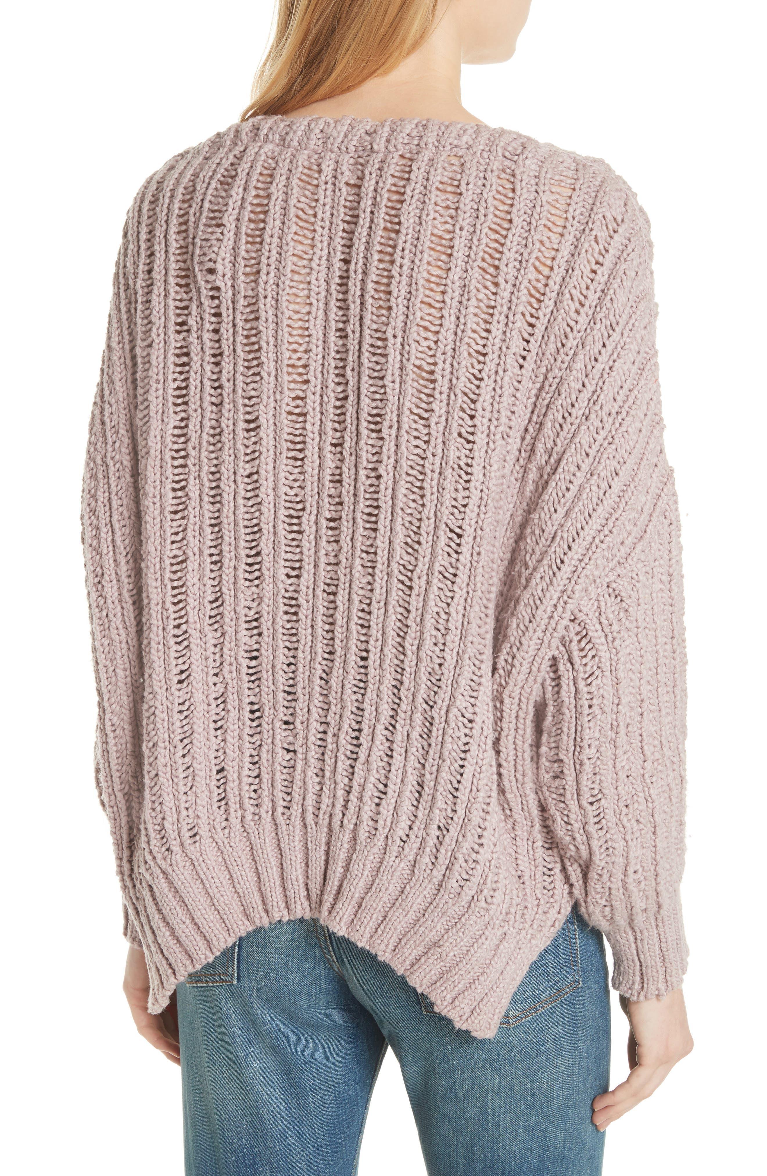 Infinite V-Neck Sweater,                             Alternate thumbnail 4, color,