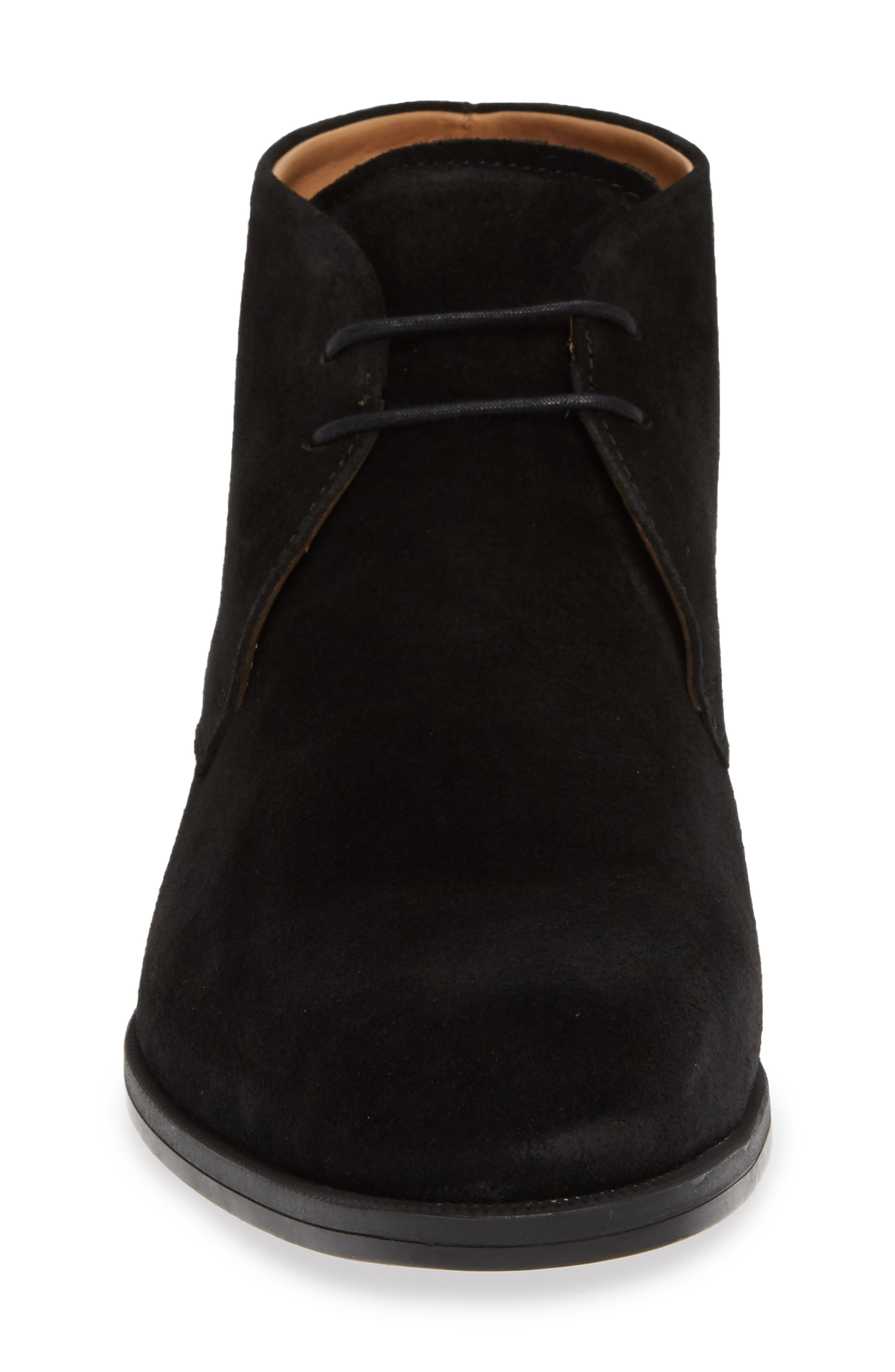 Iden Chukka Boot,                             Alternate thumbnail 4, color,                             BLACK SUEDE