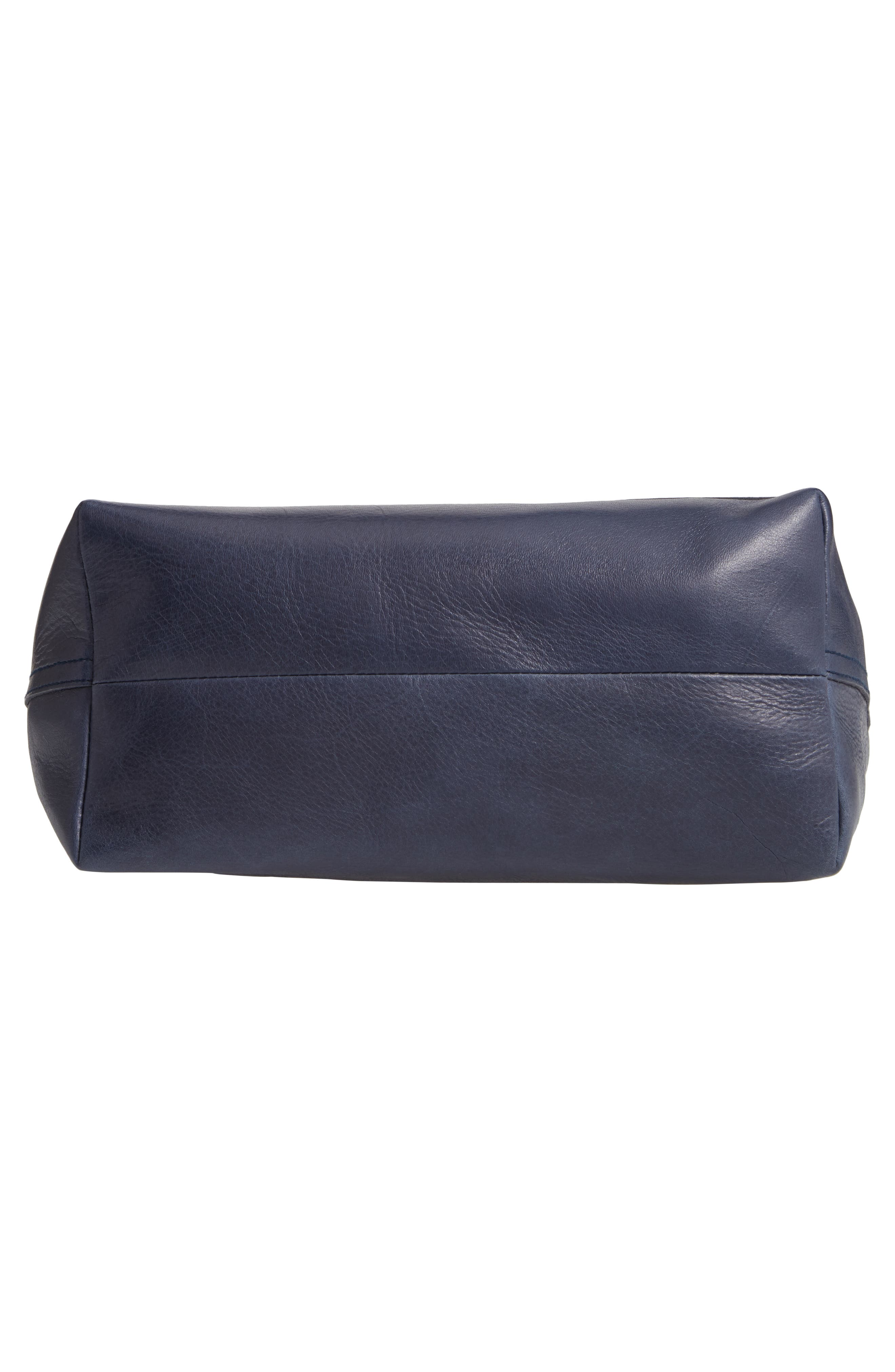 Medium Leather Transport Tote,                             Alternate thumbnail 6, color,                             DEEP NAVY