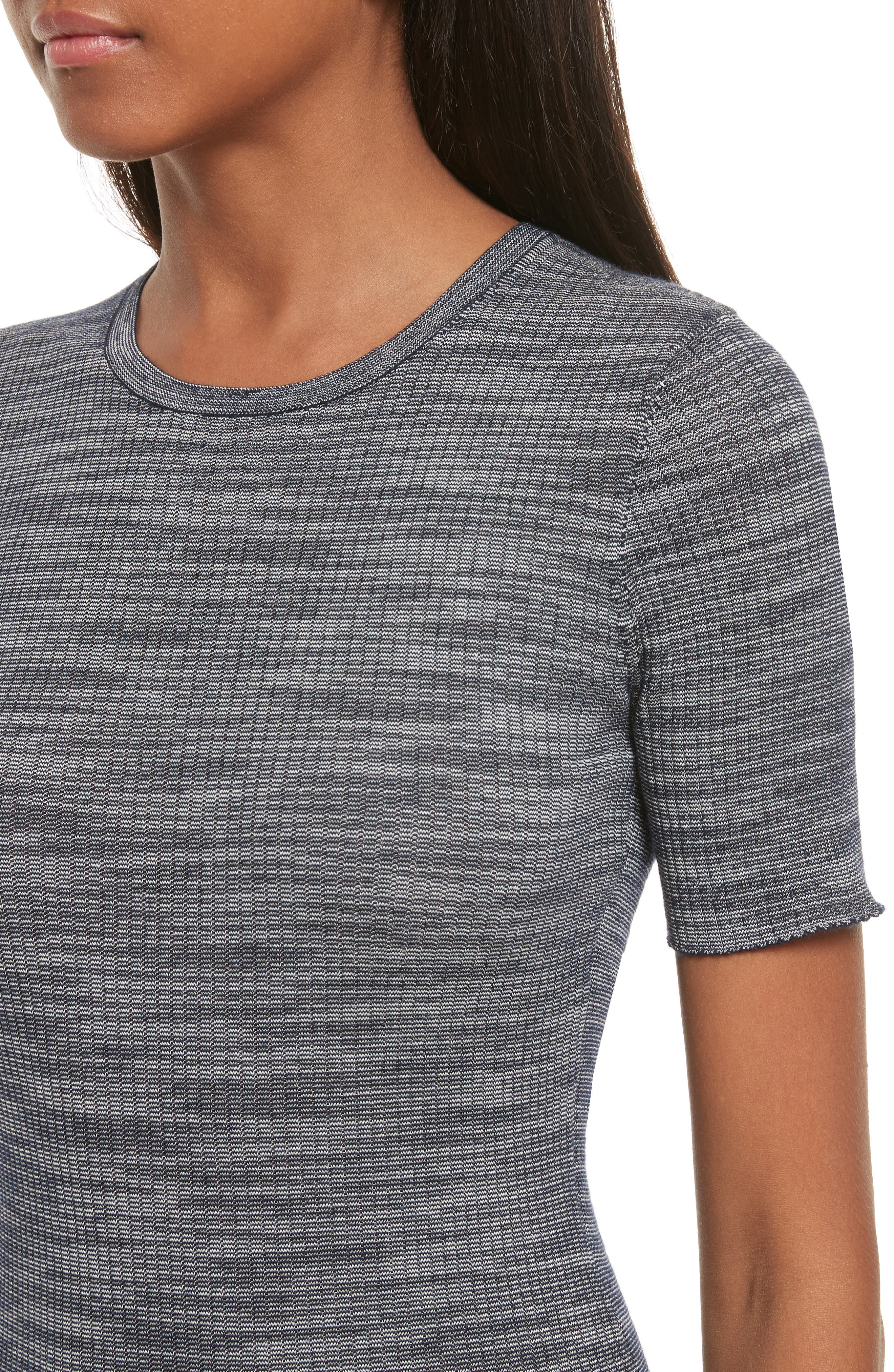 Fitted Merino Wool Blend Sweater,                             Alternate thumbnail 8, color,