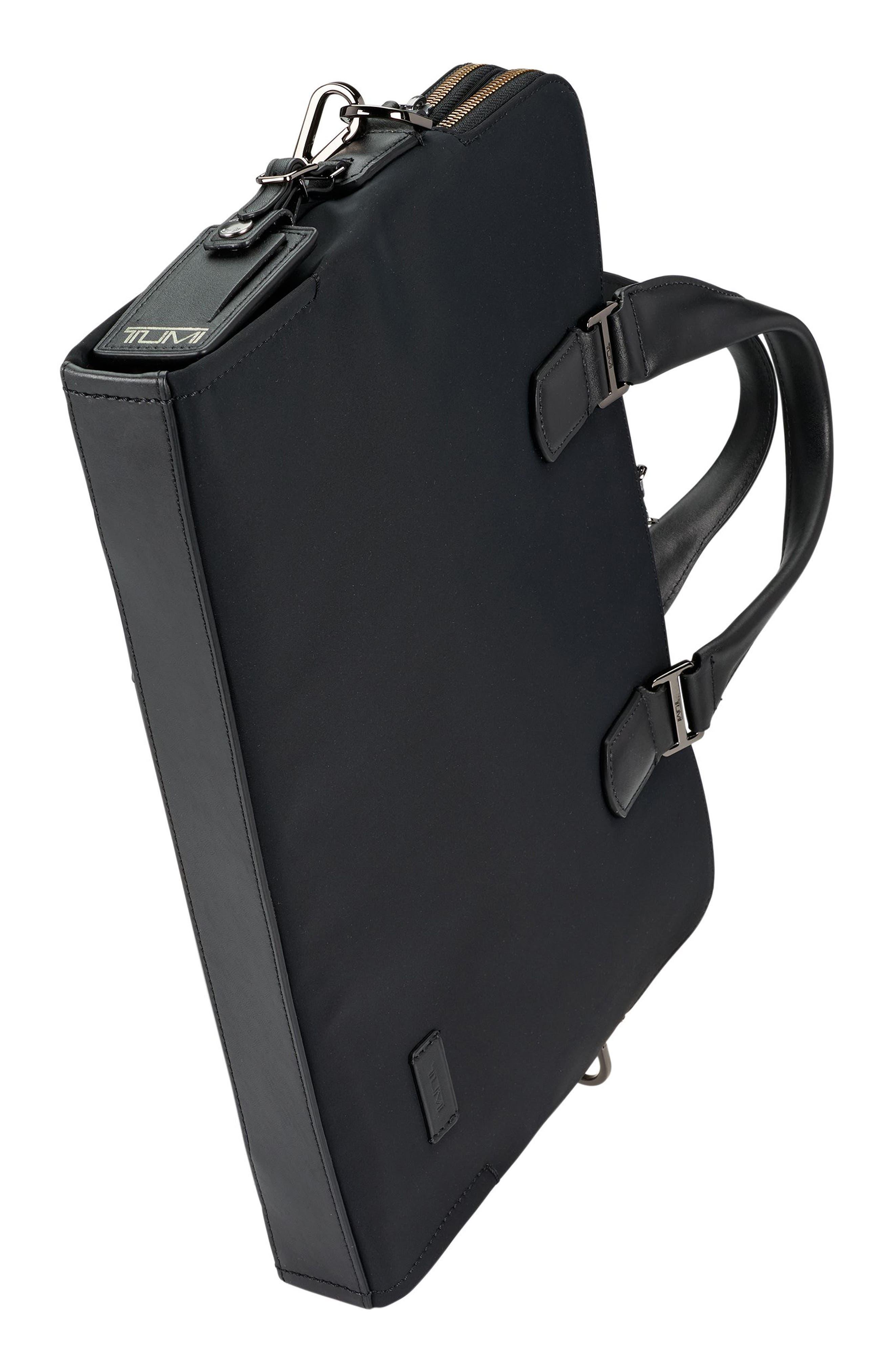 Harrison Seneca Slim Briefcase,                             Alternate thumbnail 5, color,                             BLACK NYLON