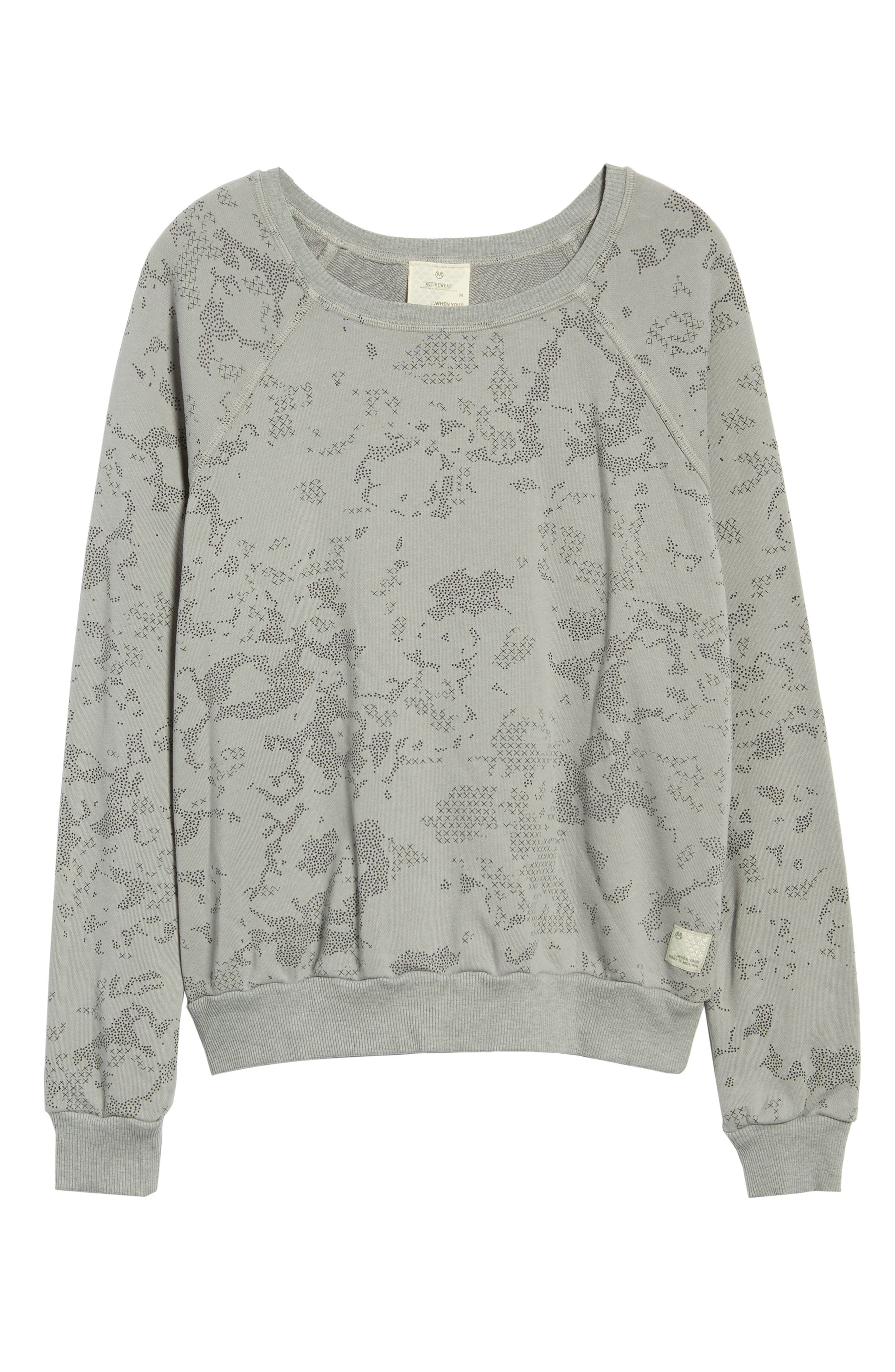 Sleek Camo Granite Sweatshirt,                             Alternate thumbnail 2, color,                             030