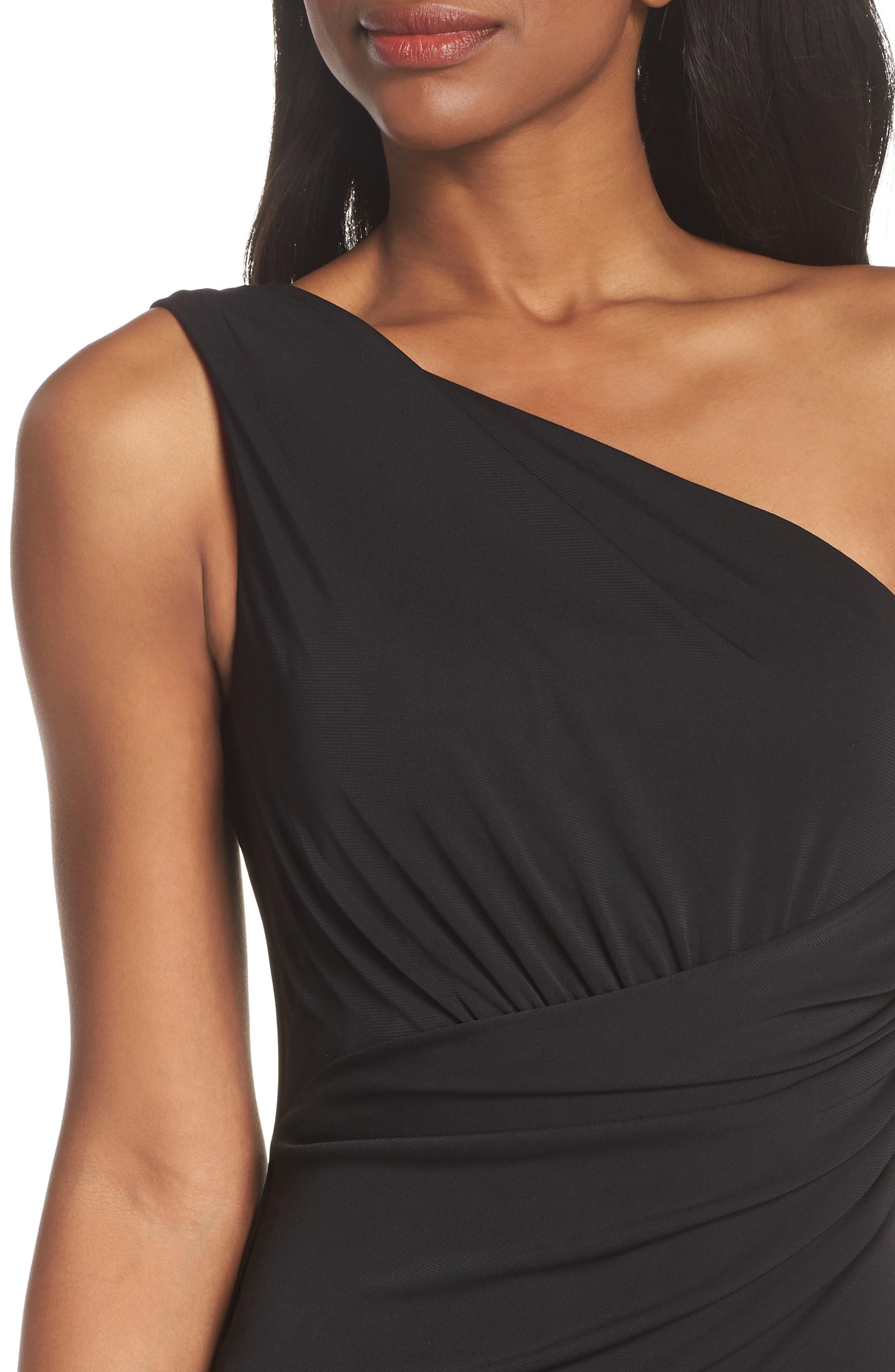 Kerri One-Shoulder Gown,                             Alternate thumbnail 4, color,