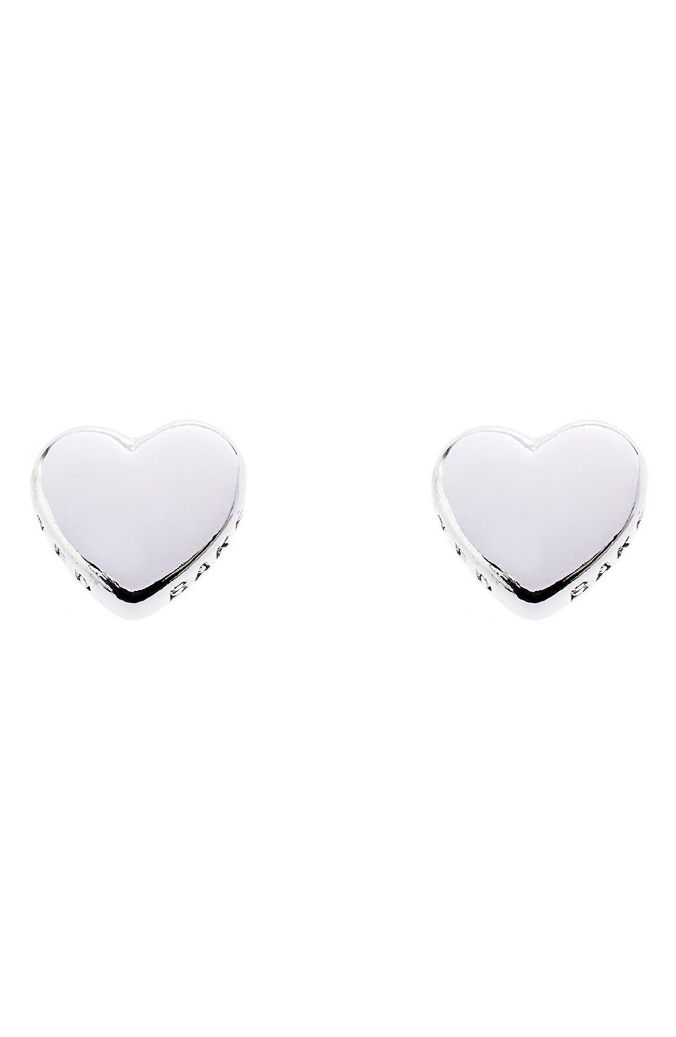 Sweetheart Stud Earrings,                         Main,                         color, 040