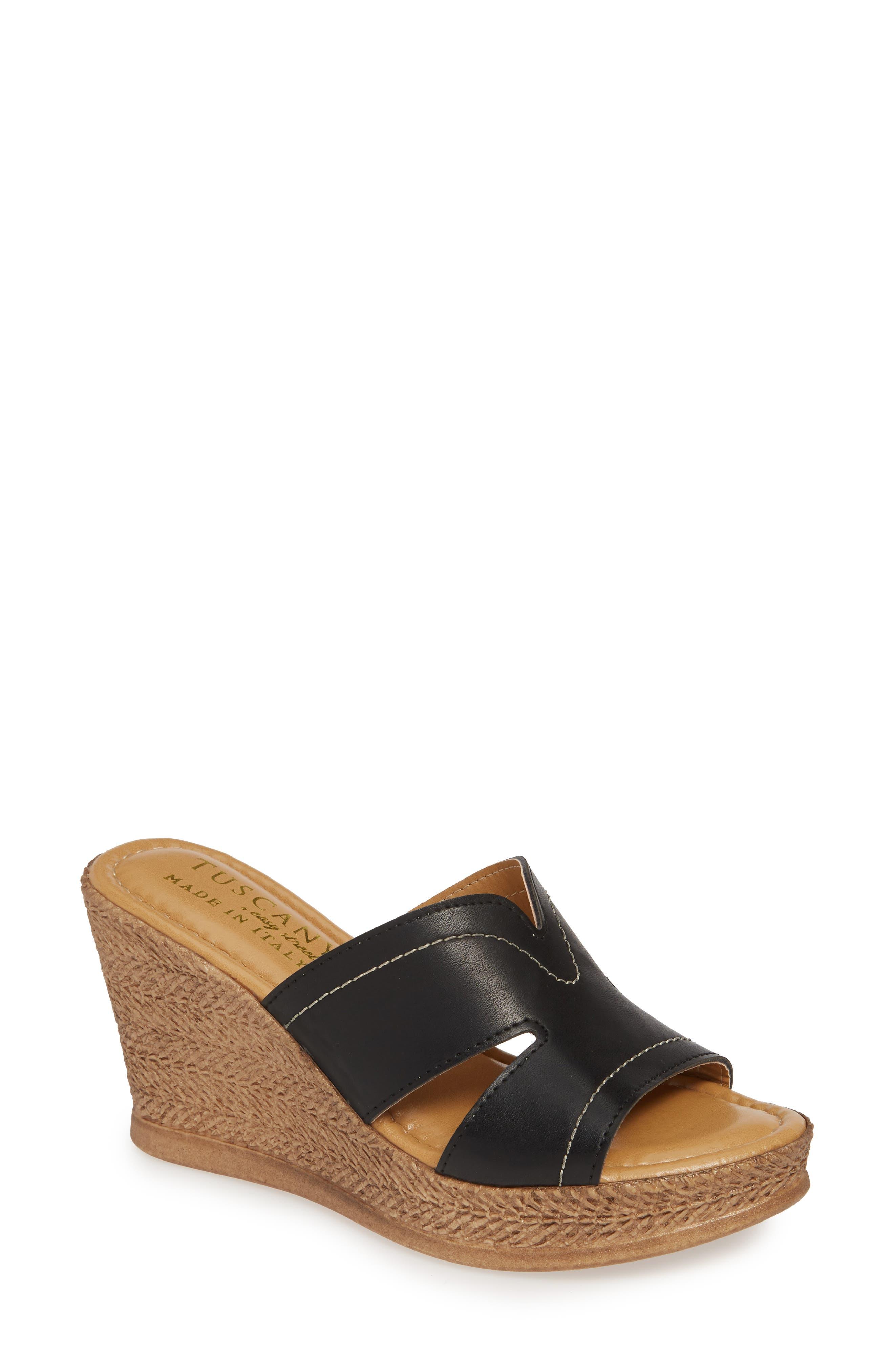 Marsala Sandal, Main, color, BLACK LEATHER