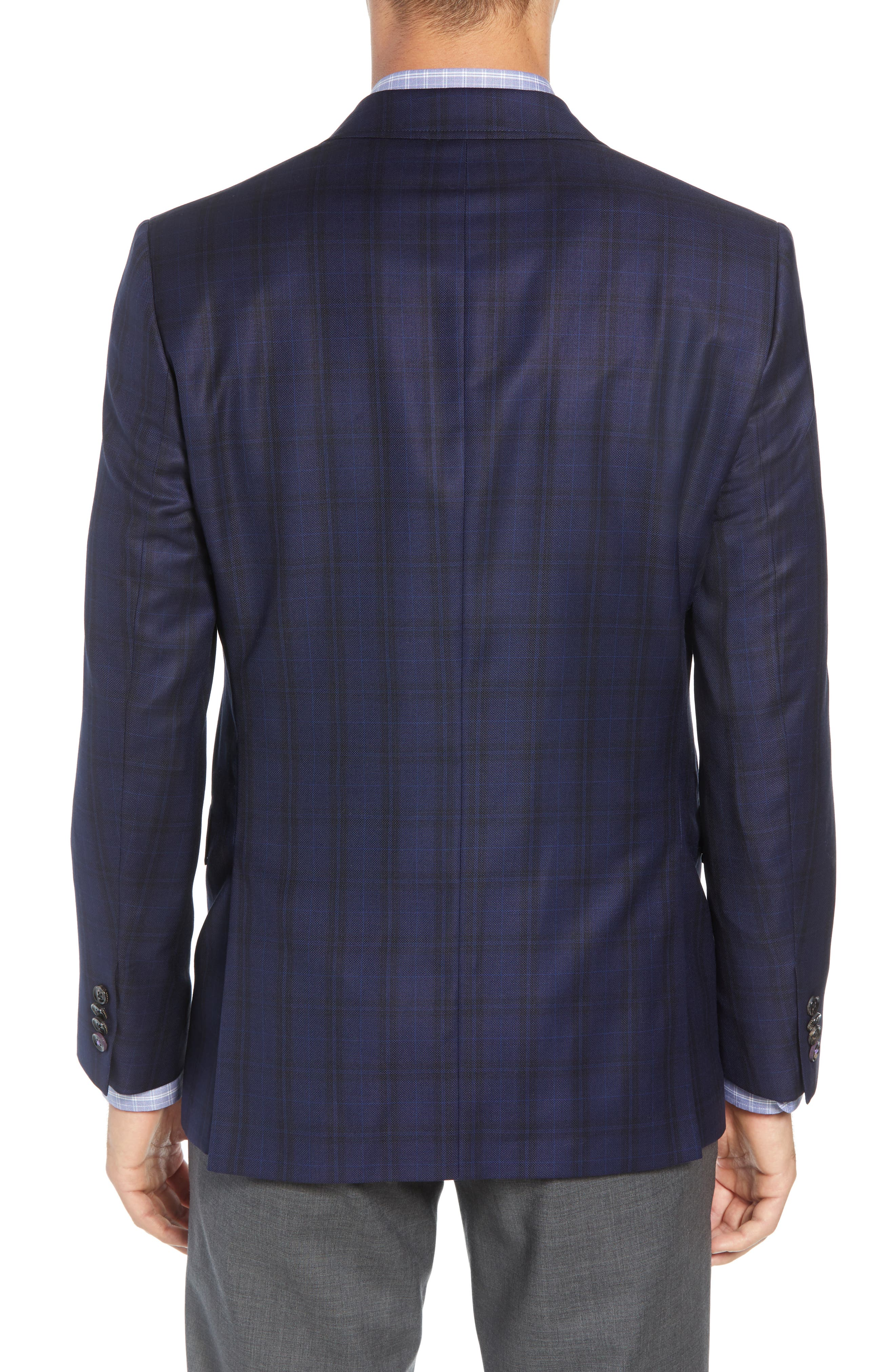 Jed Trim Fit Plaid Wool Sport Coat,                             Alternate thumbnail 2, color,                             400