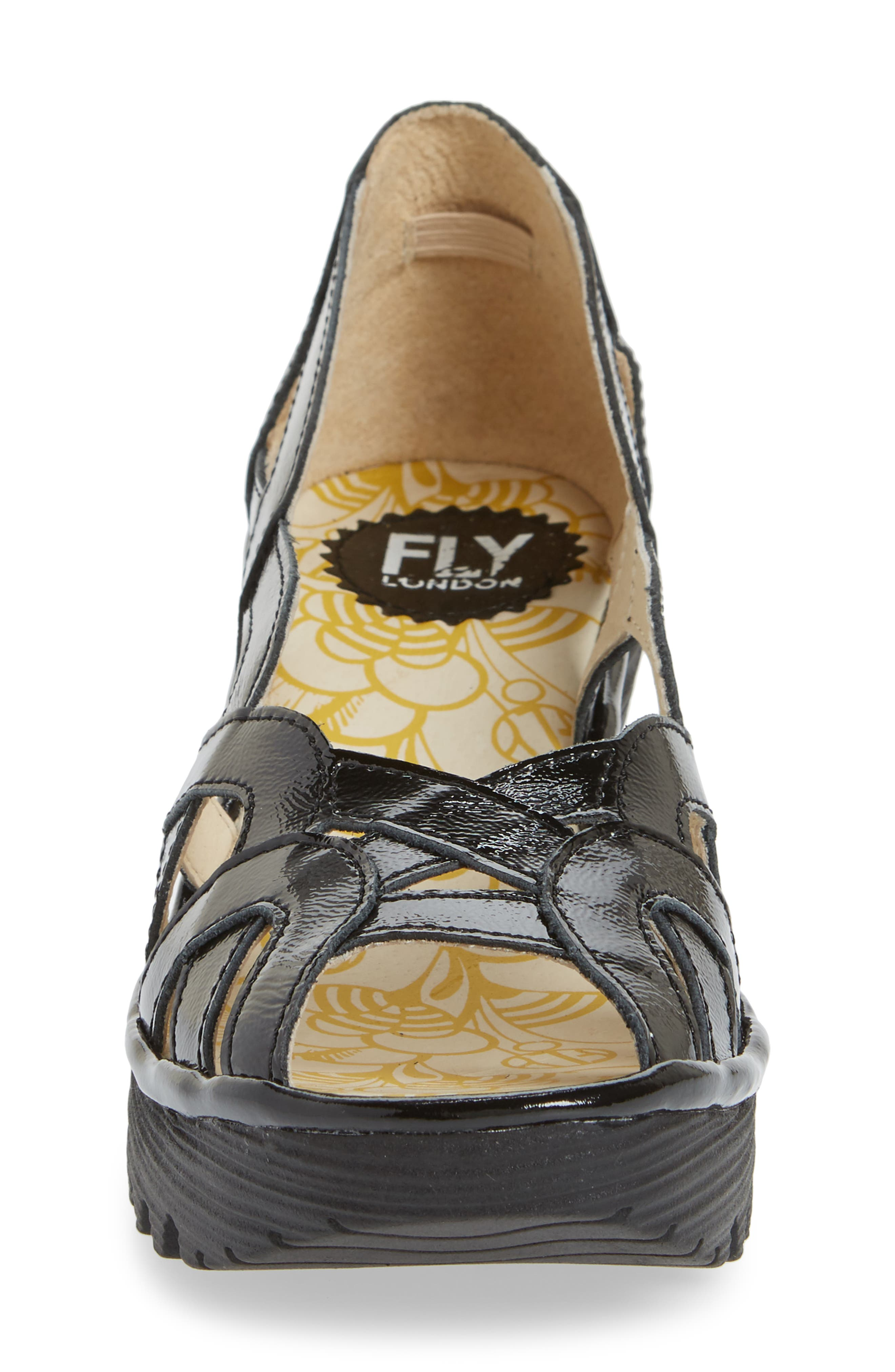FLY LONDON,                             Yadi Wedge Sandal,                             Alternate thumbnail 4, color,                             003