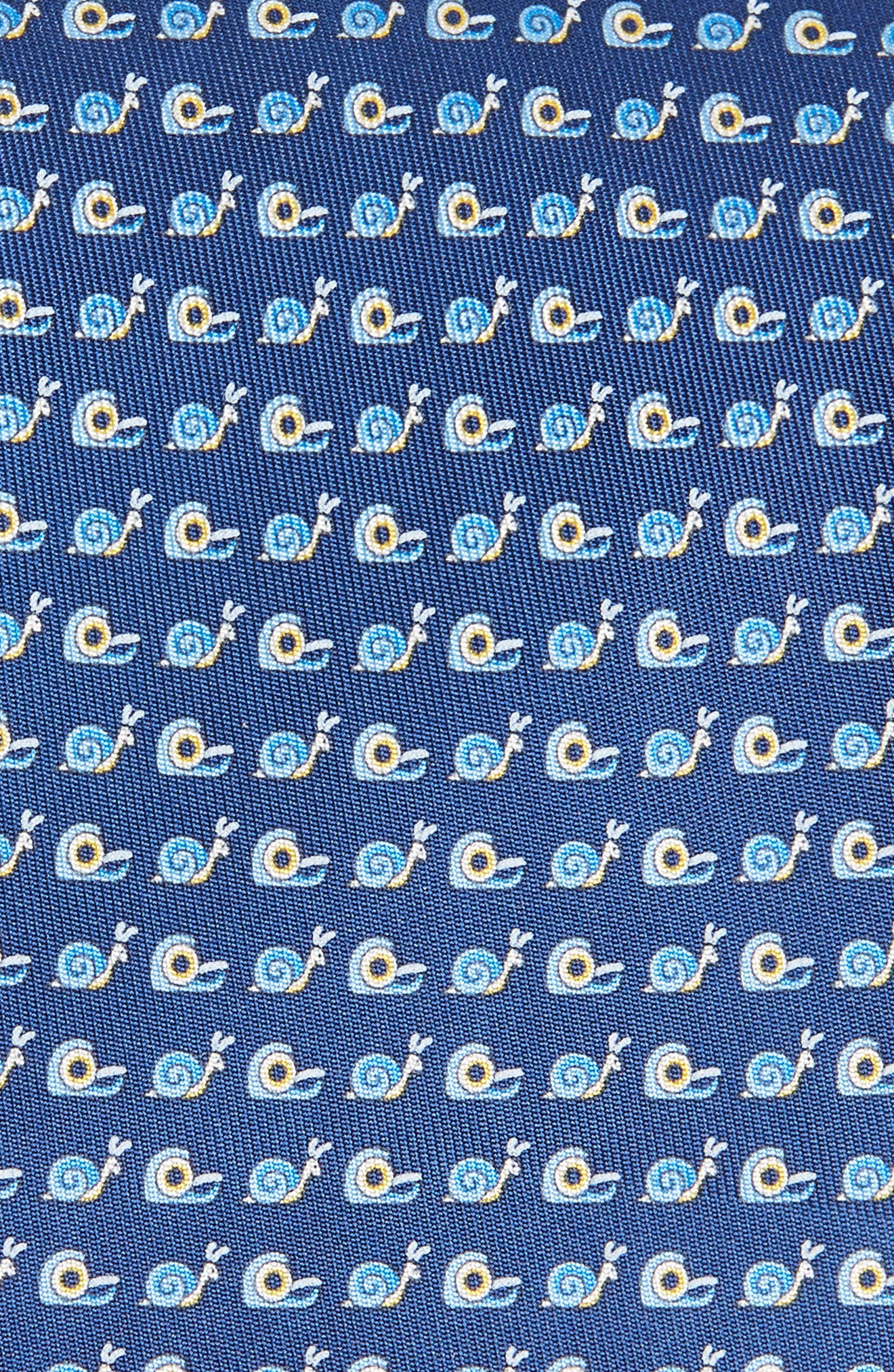 Fancy Print Silk Tie,                             Alternate thumbnail 2, color,                             BLUE