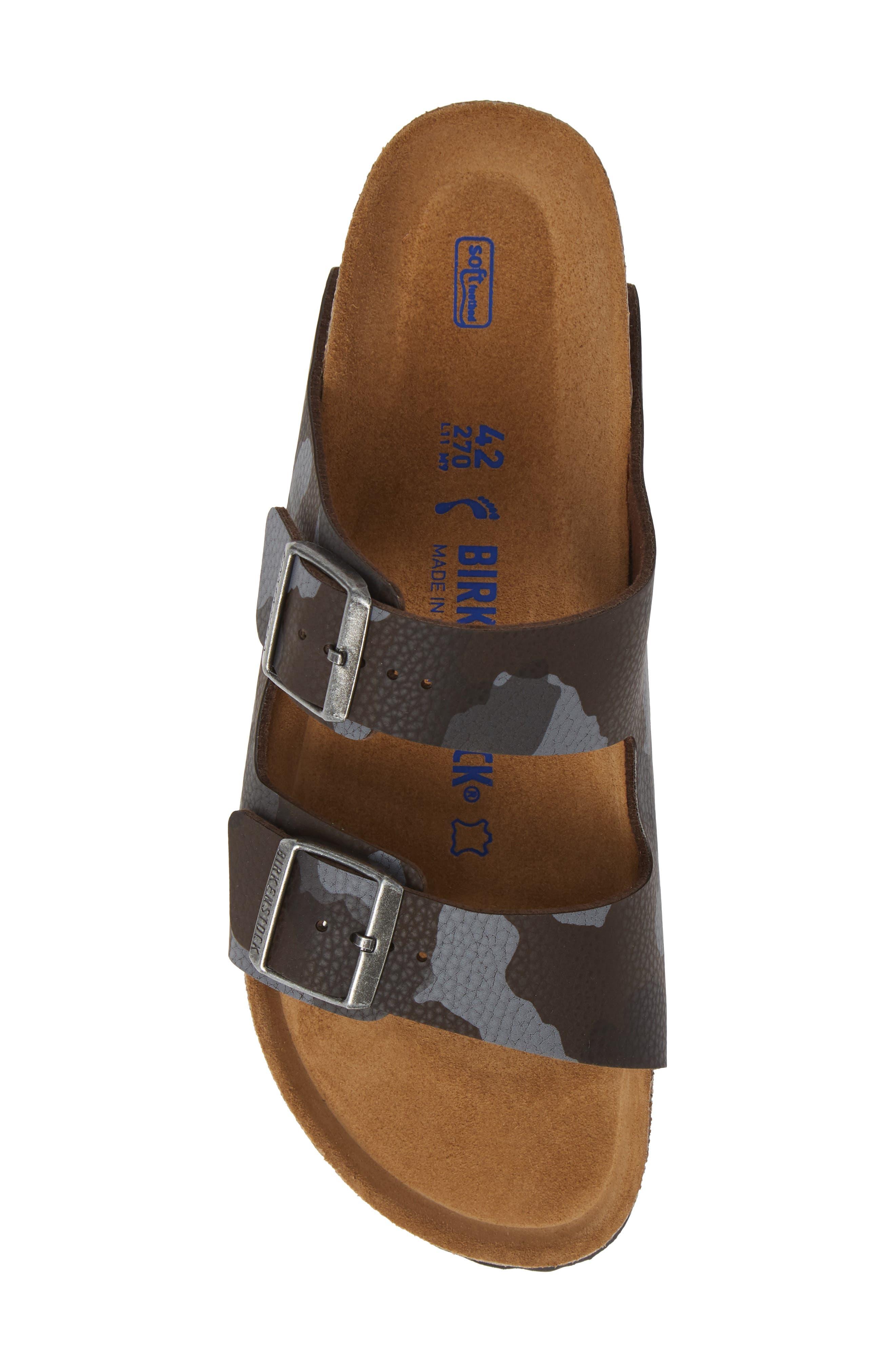 Arizona Soft Slide Sandal,                             Alternate thumbnail 5, color,                             DESERT SOIL CAMO BROWN