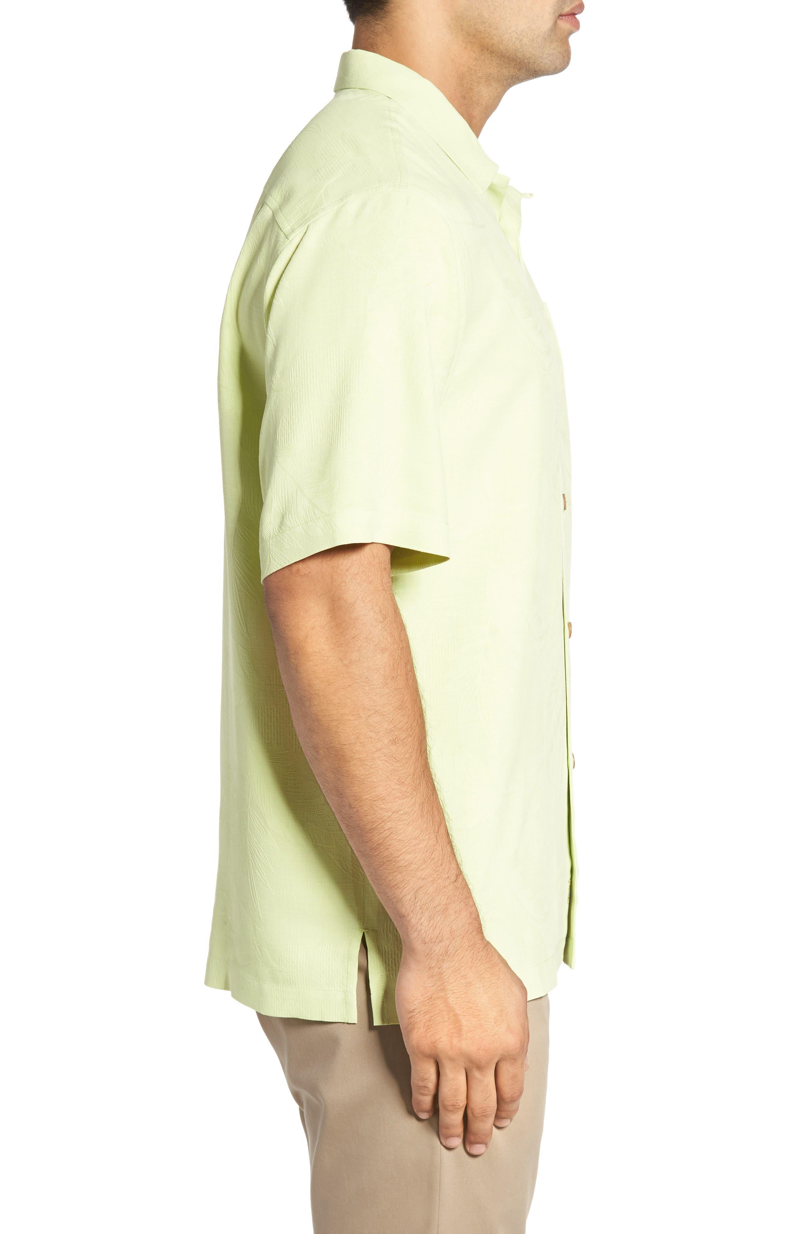 Rio Fronds Short Sleeve Silk Sport Shirt,                             Alternate thumbnail 54, color,