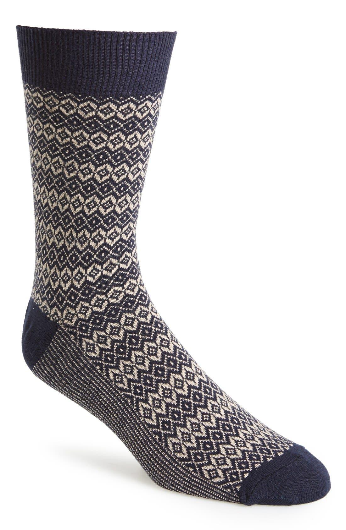 'Fair Isle' Socks, Main, color, 410