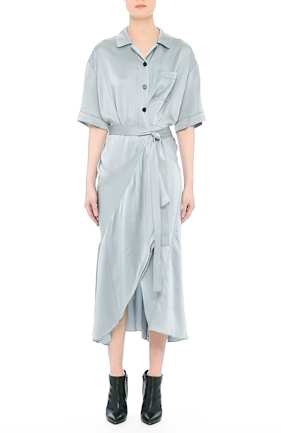 Emily Silk Shirtdress,                             Alternate thumbnail 7, color,                             452
