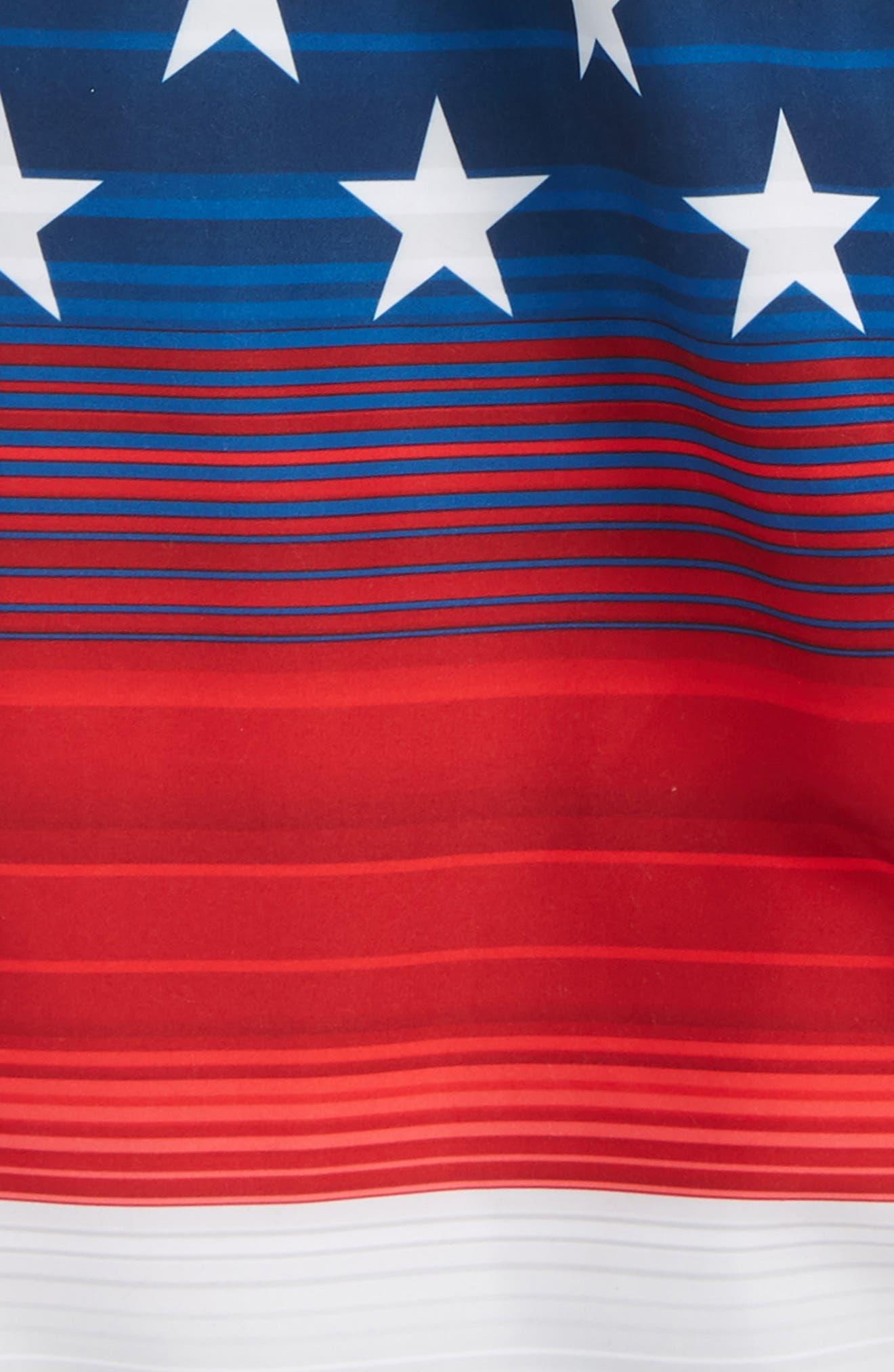 Americana Stripe Volley Shorts,                             Alternate thumbnail 3, color,                             600