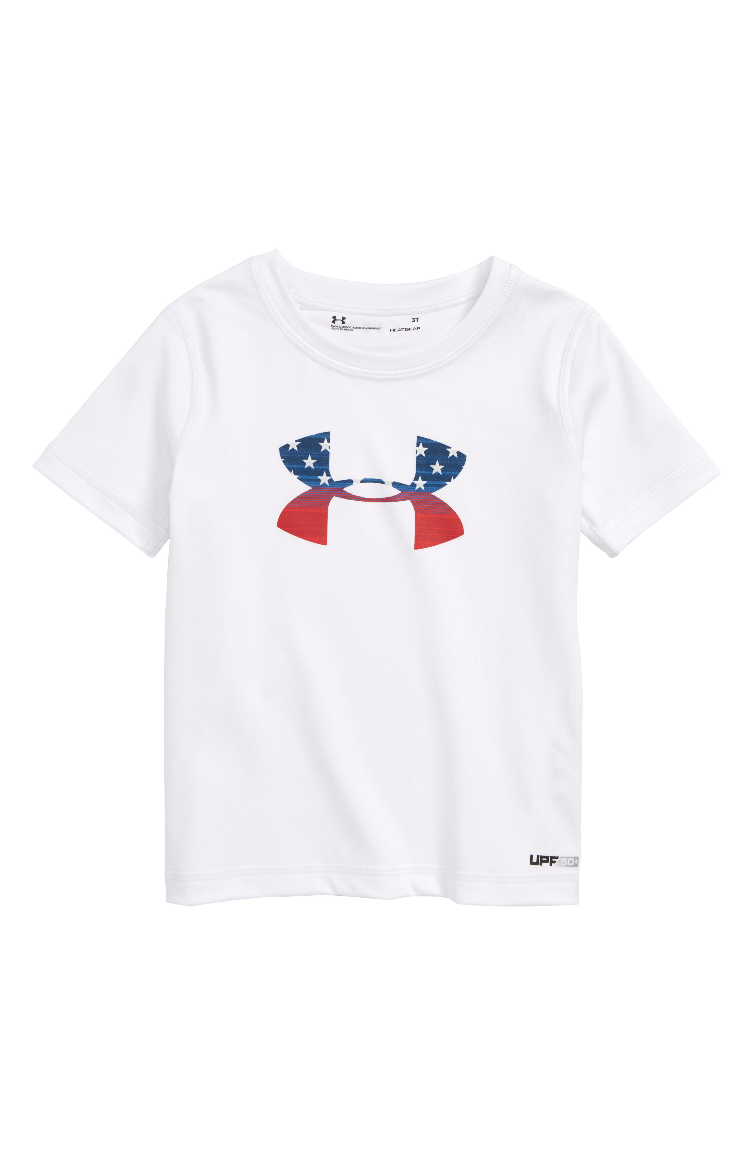 Stars & Stripes Logo Graphic T-Shirt,                             Main thumbnail 1, color,                             100