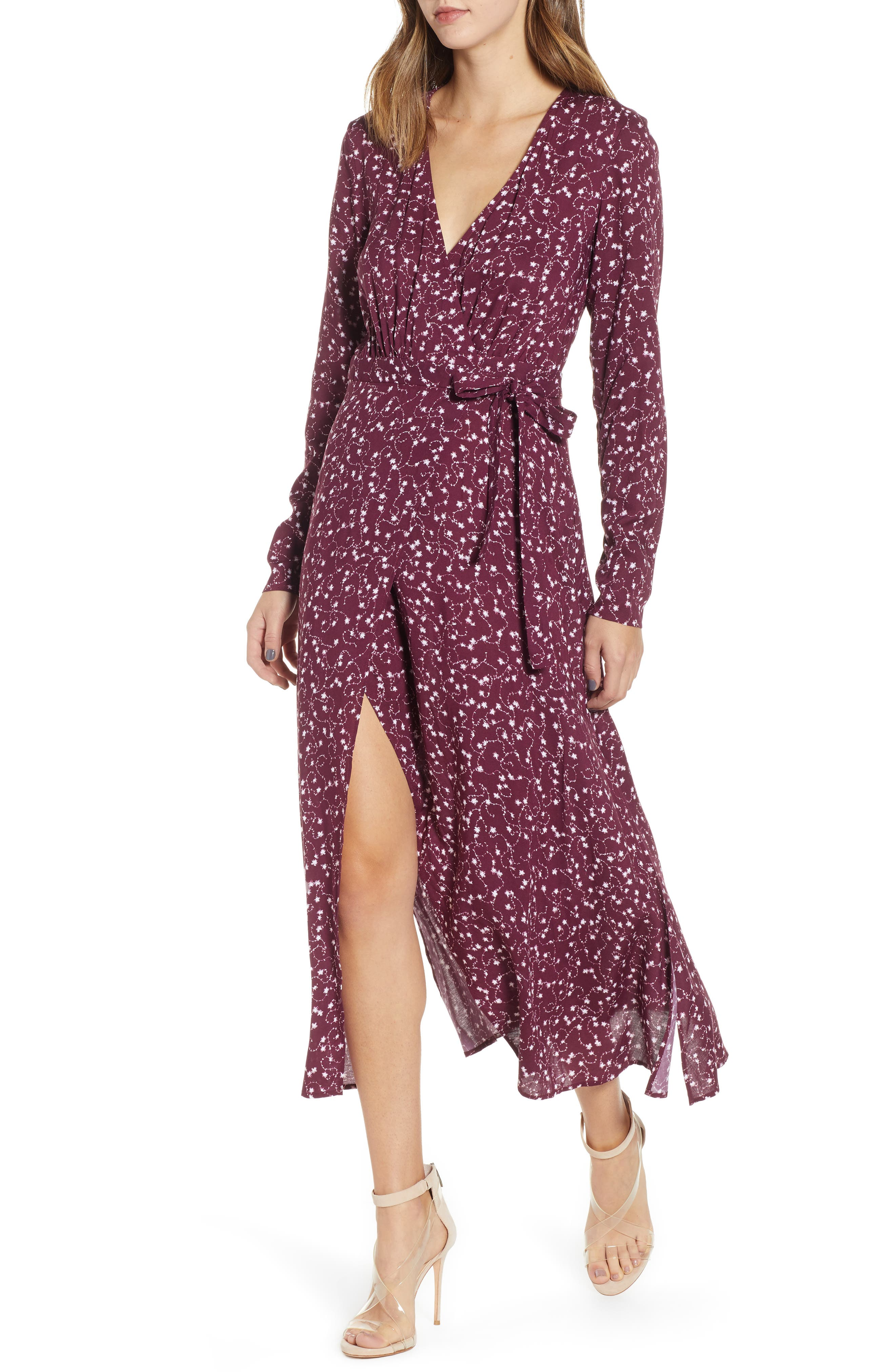 The Fifth Label Celebrated Floral Wrap Dress, Purple