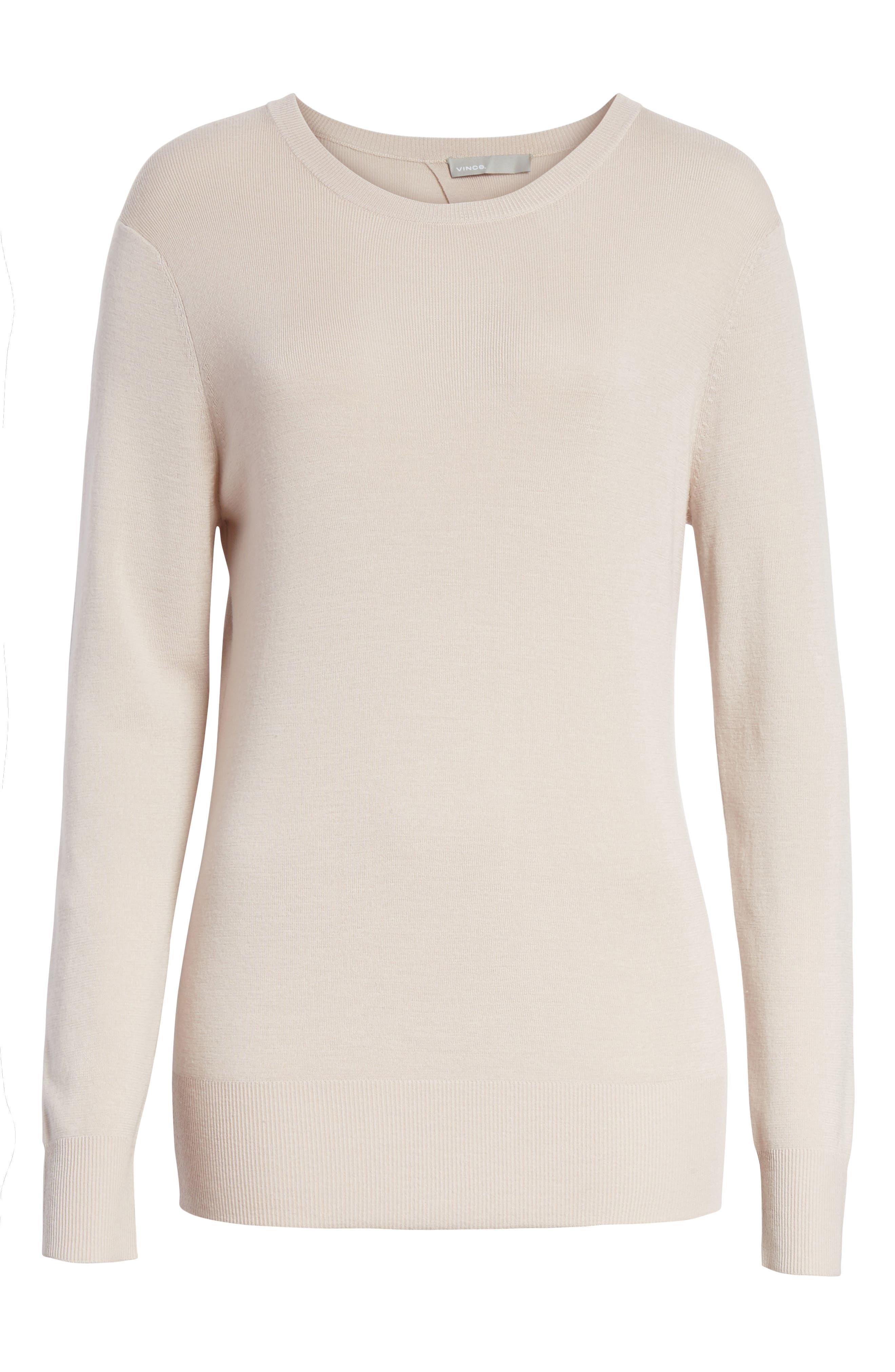 Slit Back Sweater,                             Alternate thumbnail 12, color,