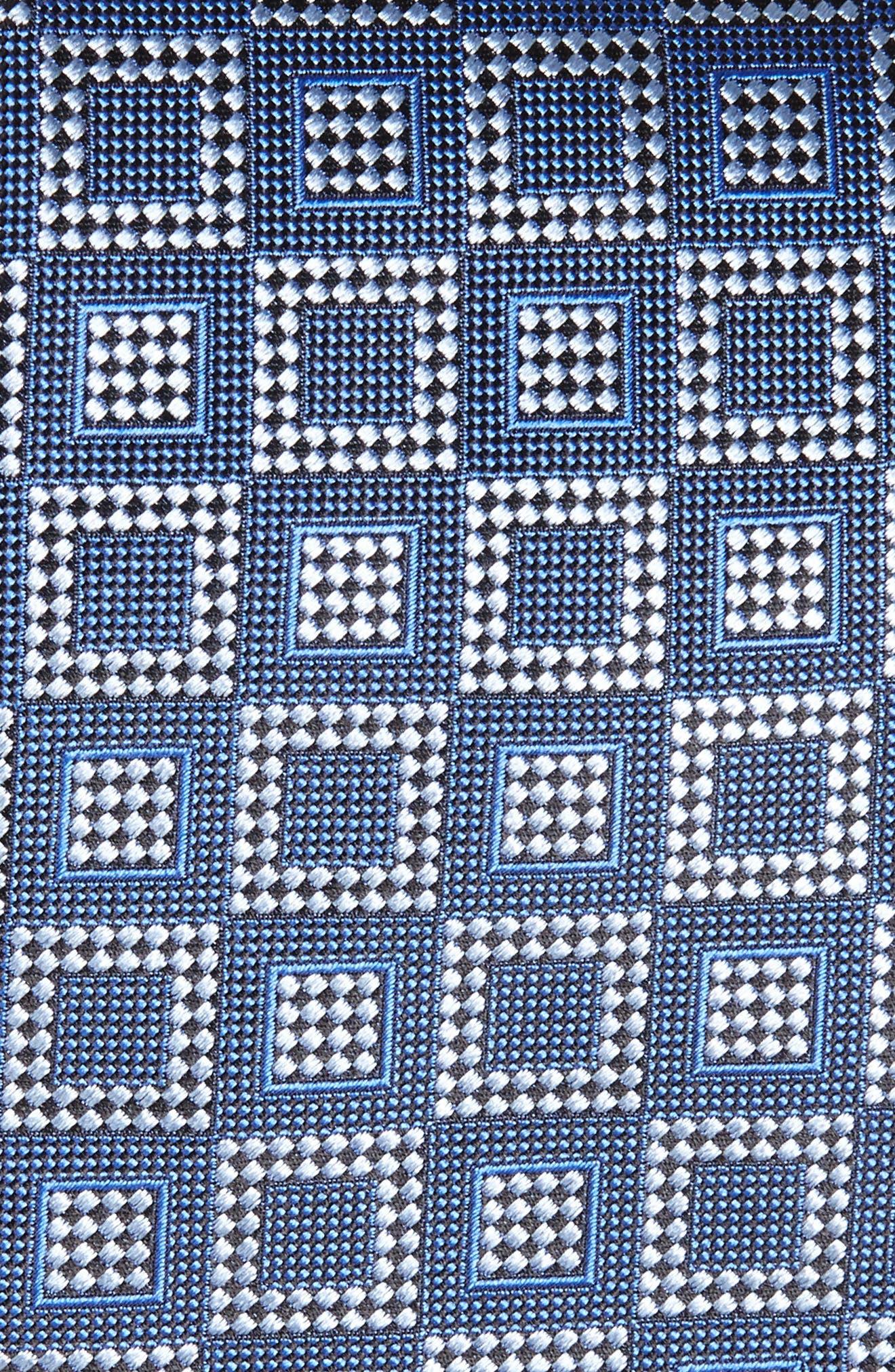 Geometric Silk Tie,                             Alternate thumbnail 2, color,                             418