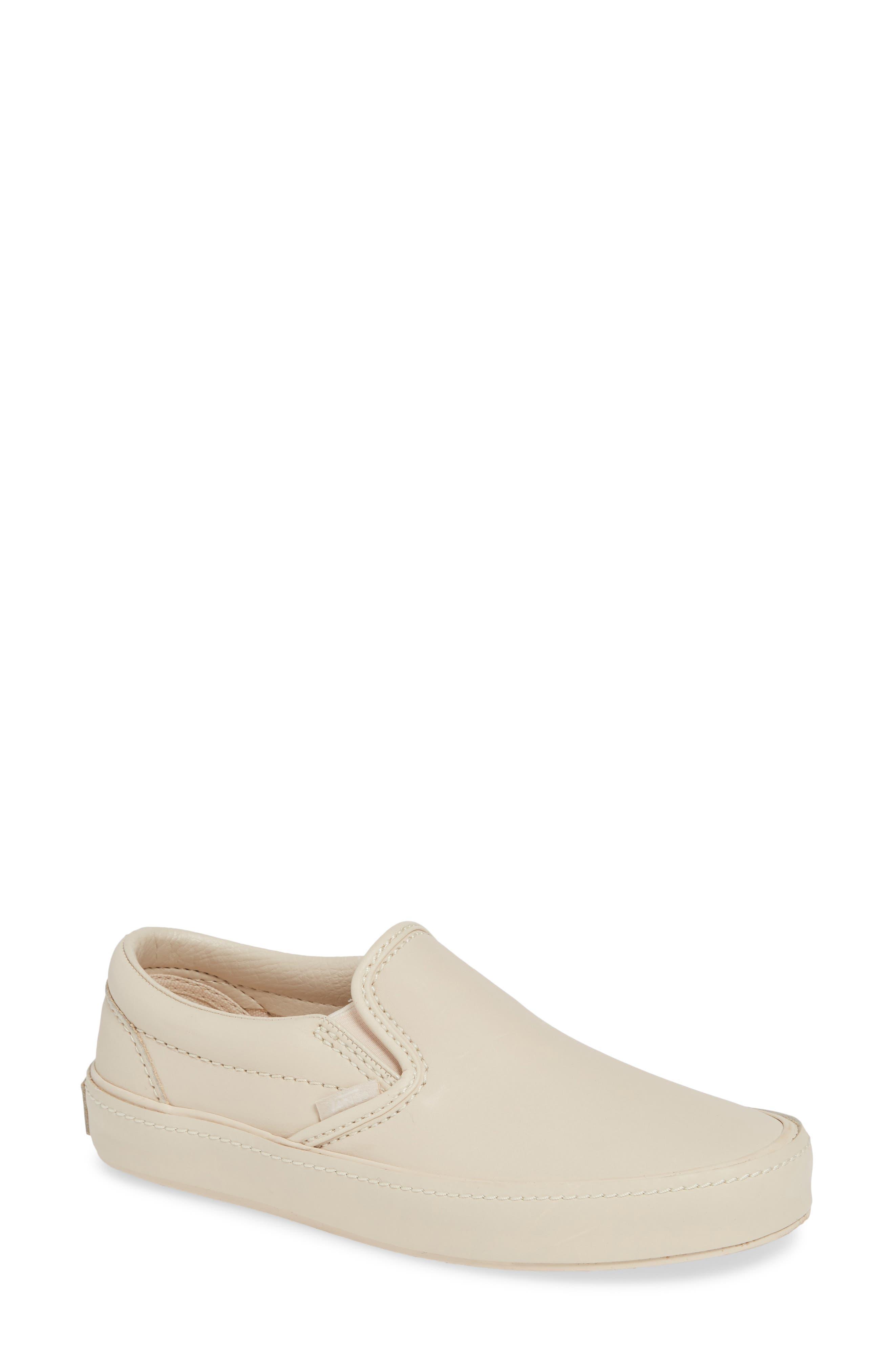VANS,                             Classic Leather Slip-On Sneaker,                             Main thumbnail 1, color,                             270