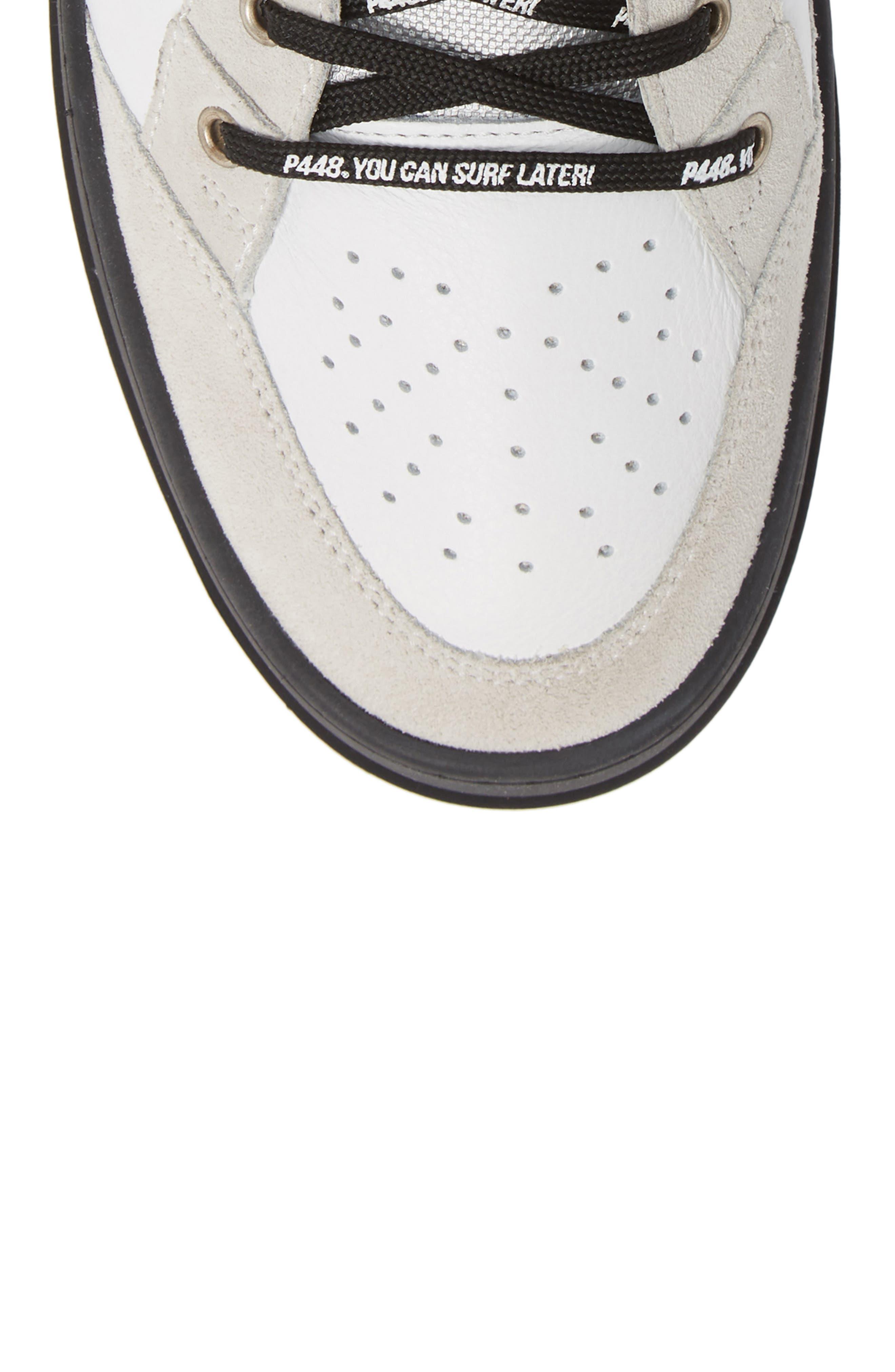 A8Love Mid Top Sneaker,                             Alternate thumbnail 5, color,                             WHITE/ BLACK