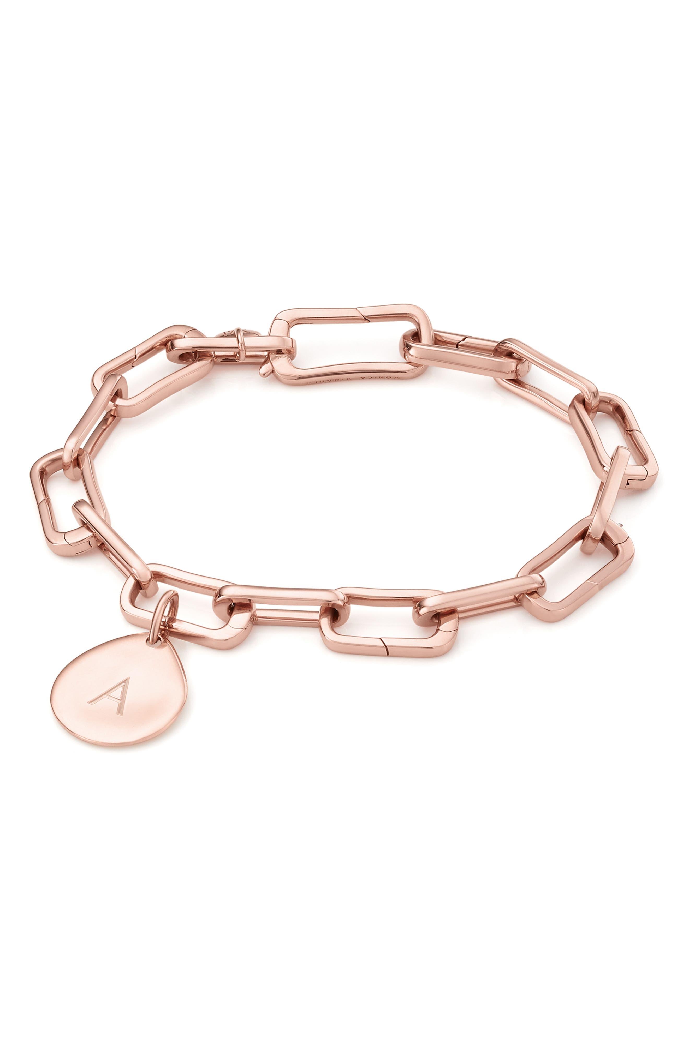 Alta Capture Link Chain Bracelet,                             Alternate thumbnail 5, color,                             ROSE GOLD