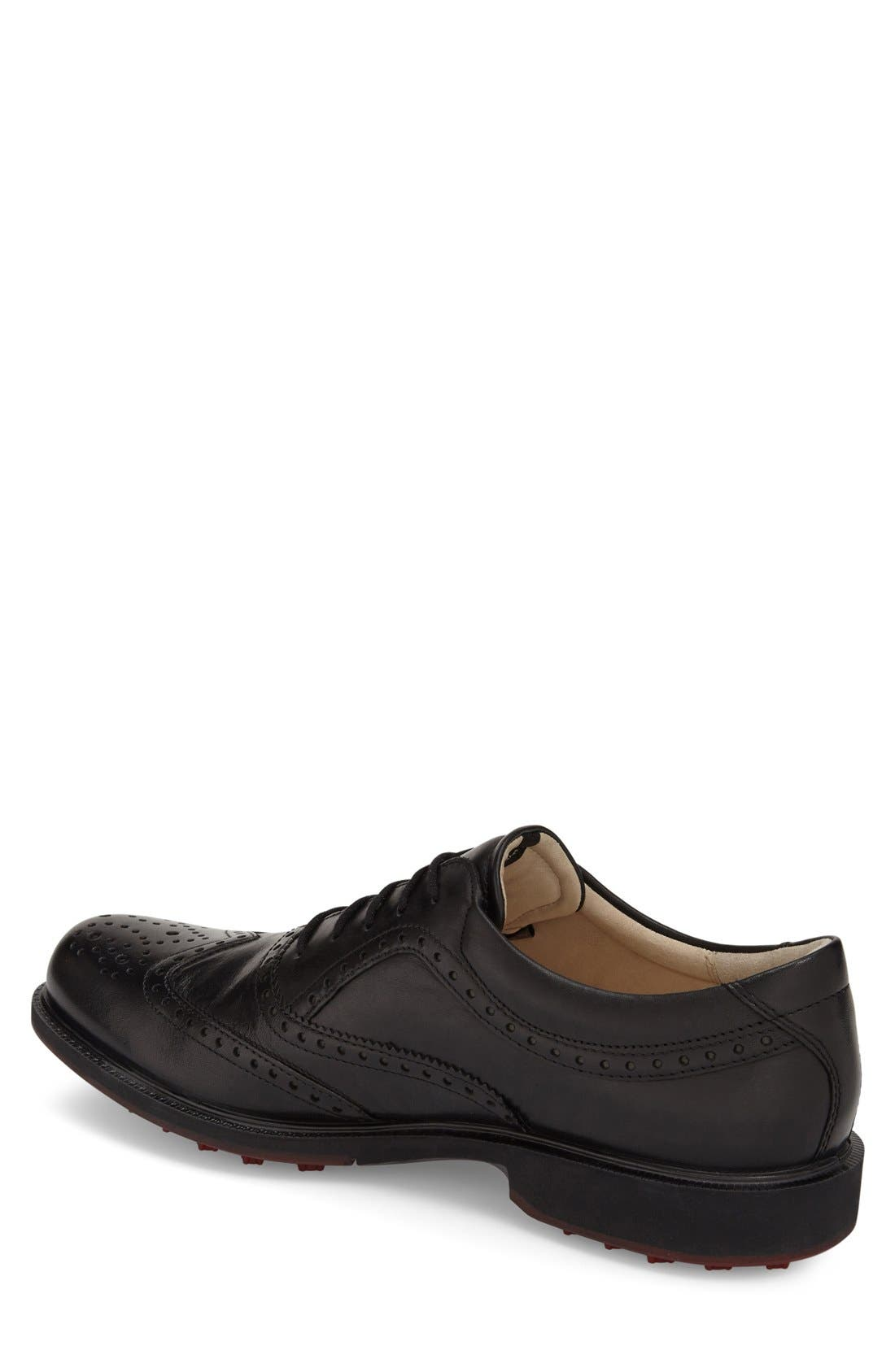 'Tour' Hybrid Wingtip Golf Shoe,                             Alternate thumbnail 4, color,                             011