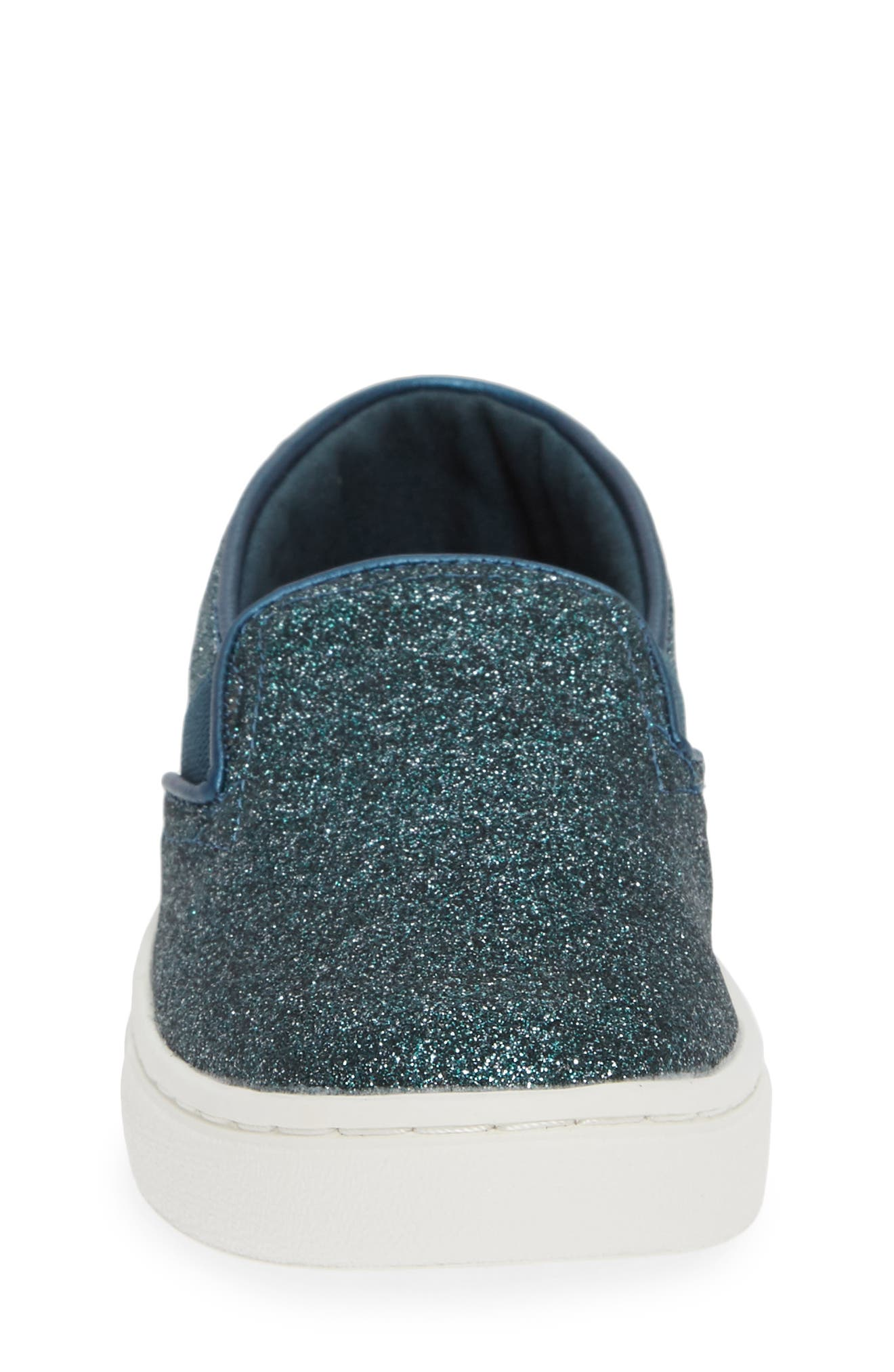 Luca Slip-On Sneaker,                             Alternate thumbnail 4, color,                             ATLANTIC IRIDESCENT/ CORDUROY
