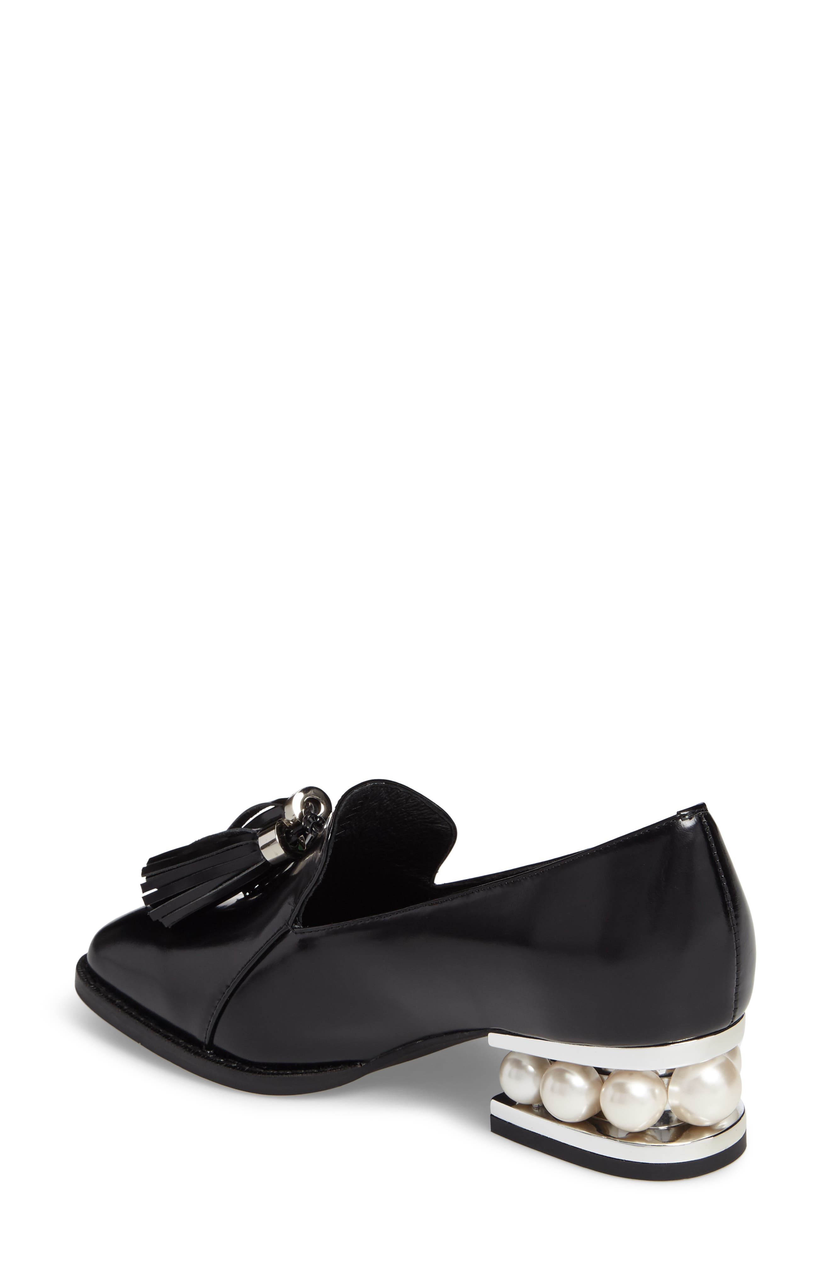 Lawford Pearly Heeled Loafer,                             Alternate thumbnail 2, color,                             001
