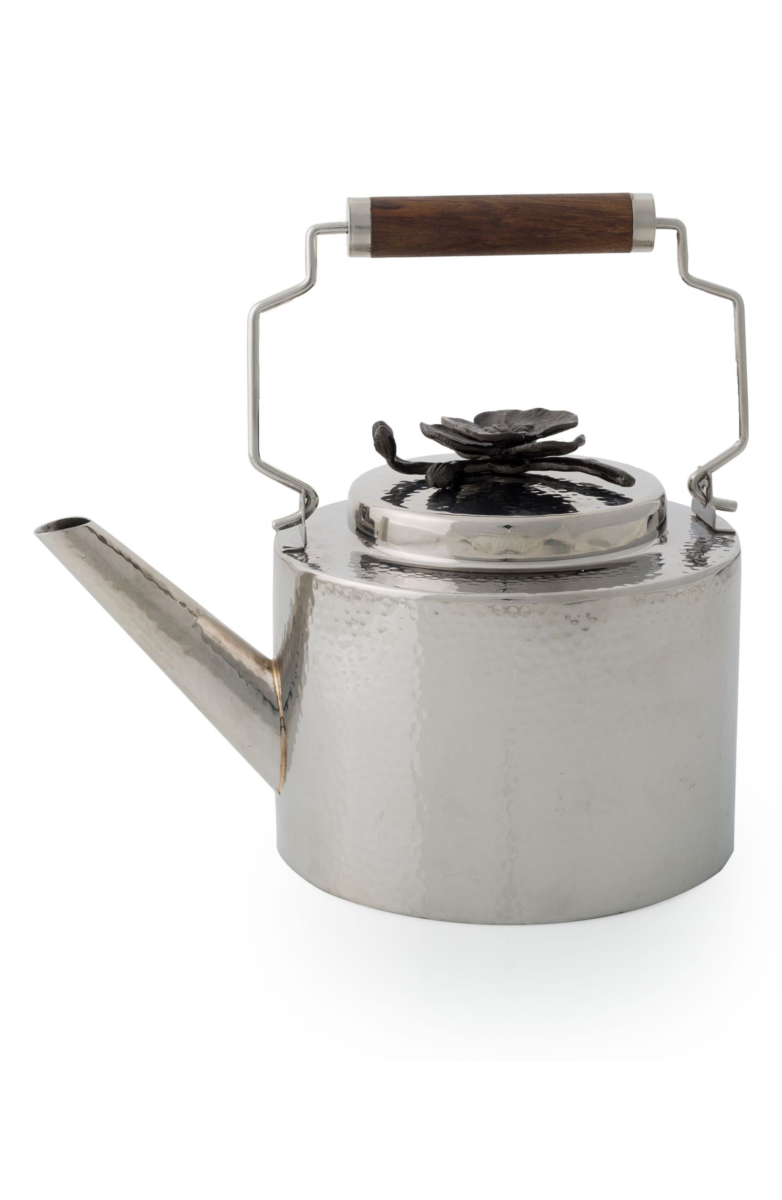 Stainless Steel Teapot,                             Main thumbnail 1, color,                             BLACK ORCHID