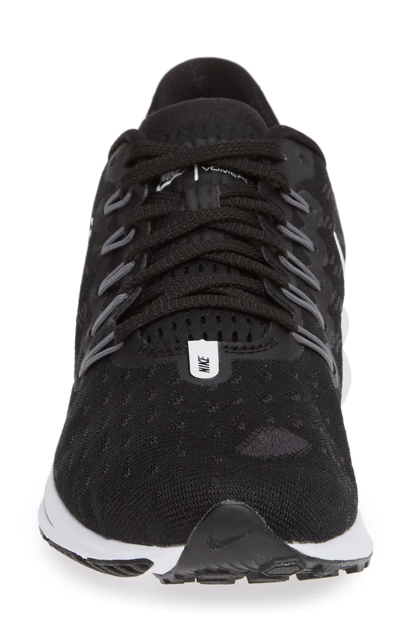 Air Zoom Vomero 14 Running Shoe,                             Alternate thumbnail 4, color,                             BLACK/ WHITE/ THUNDER GREY