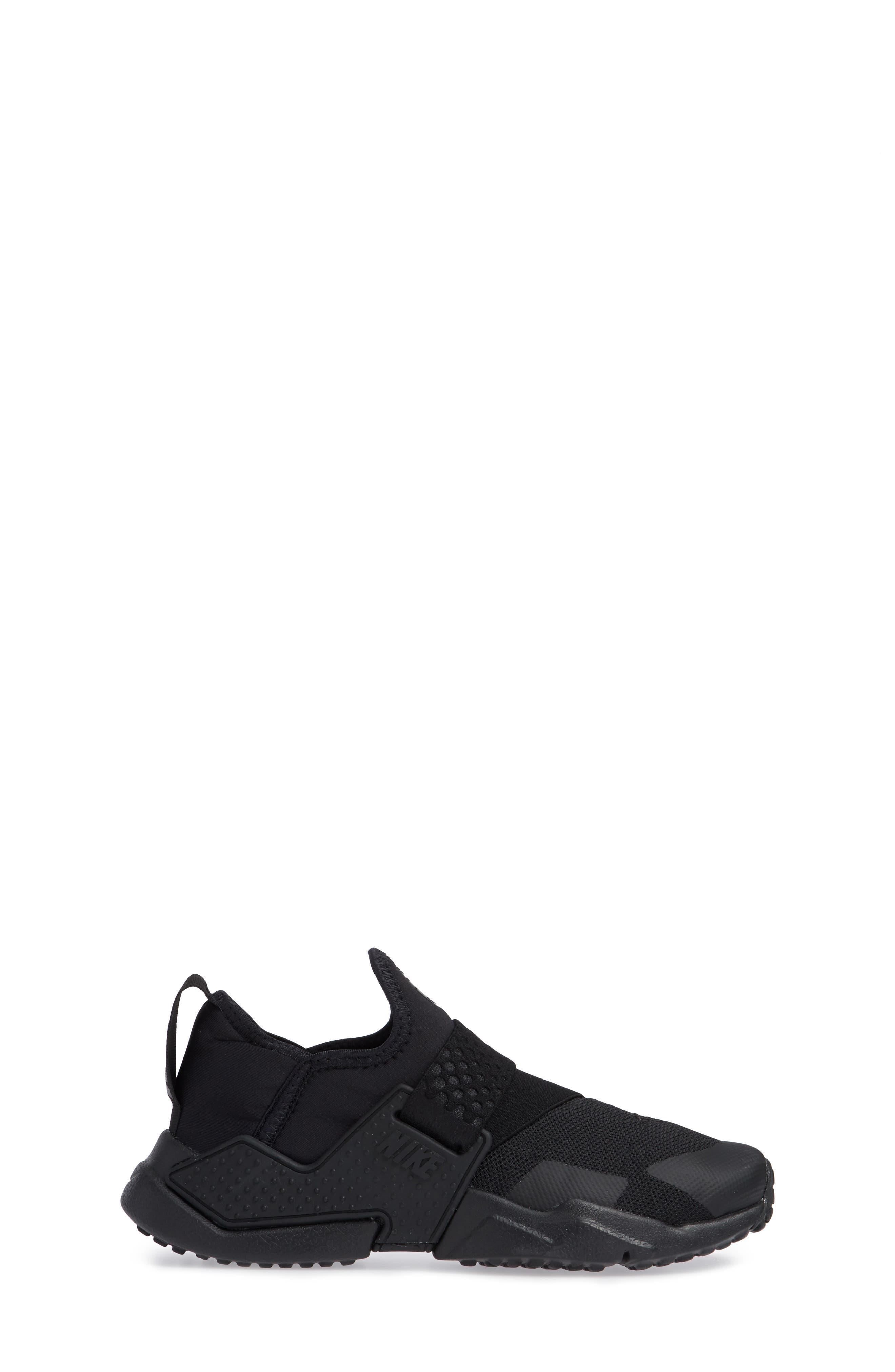 Huarache Extreme Sneaker,                             Alternate thumbnail 3, color,                             BLACK