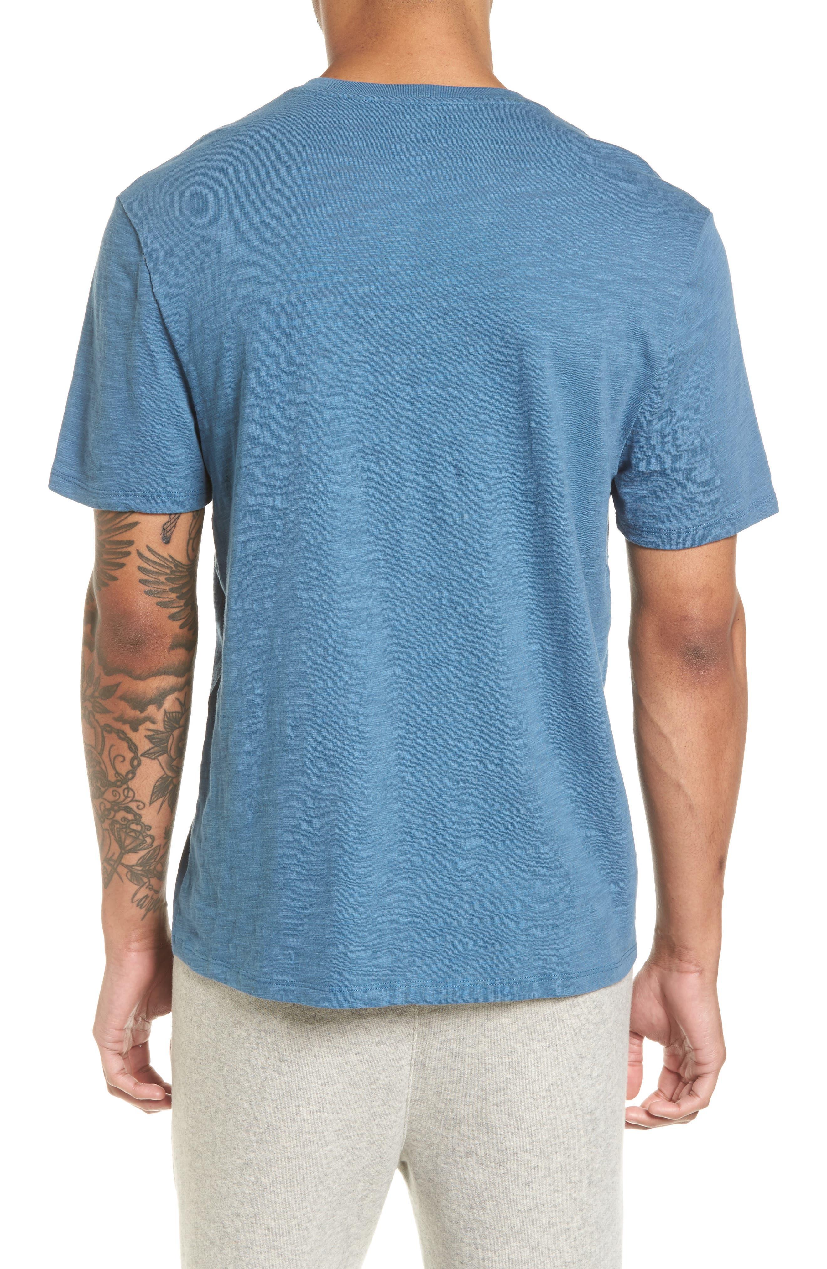 Slim Fit Slub V-Neck T-Shirt,                             Alternate thumbnail 3, color,