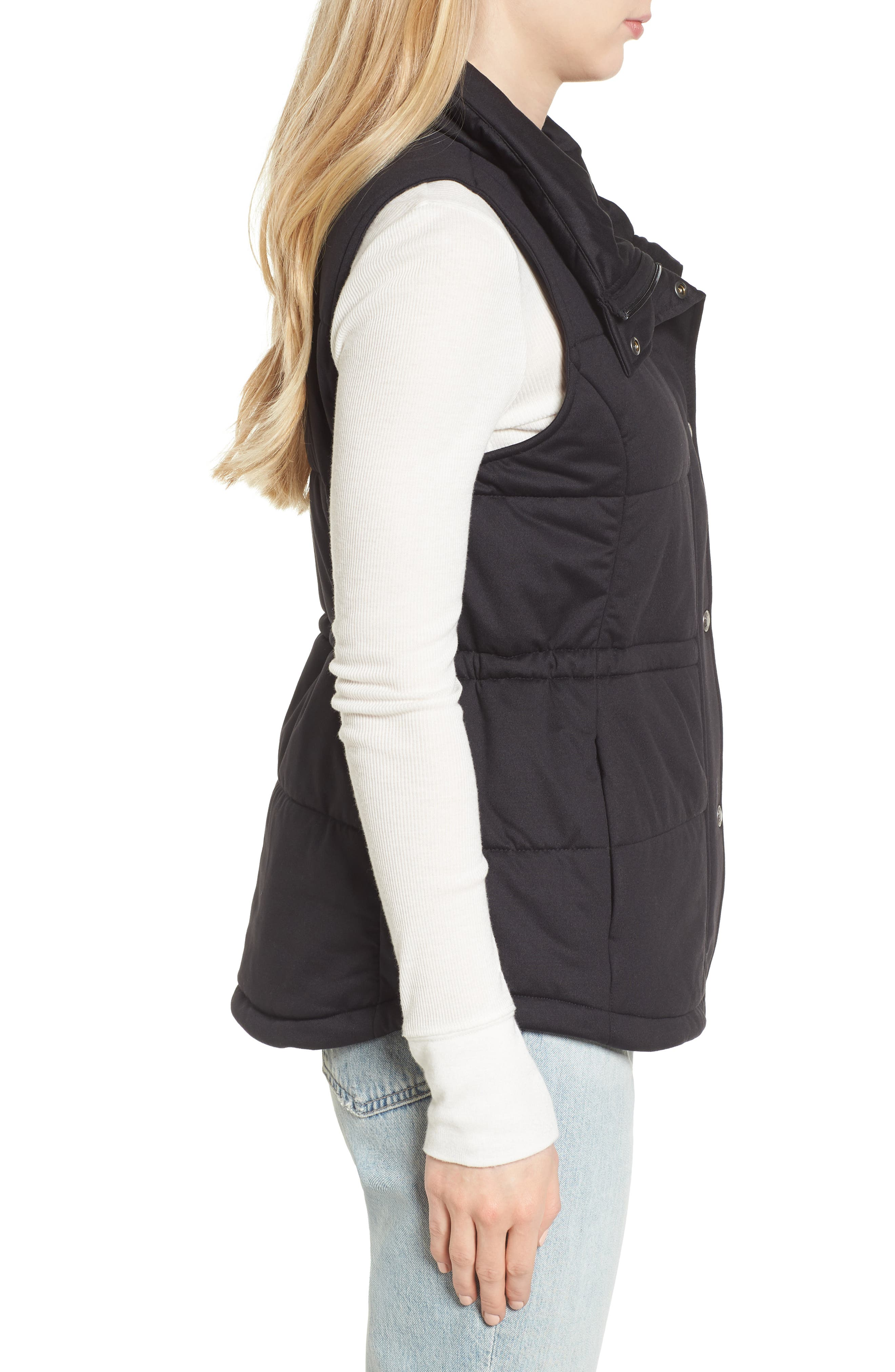 'Pseudio' Quilted Vest,                             Alternate thumbnail 3, color,                             003