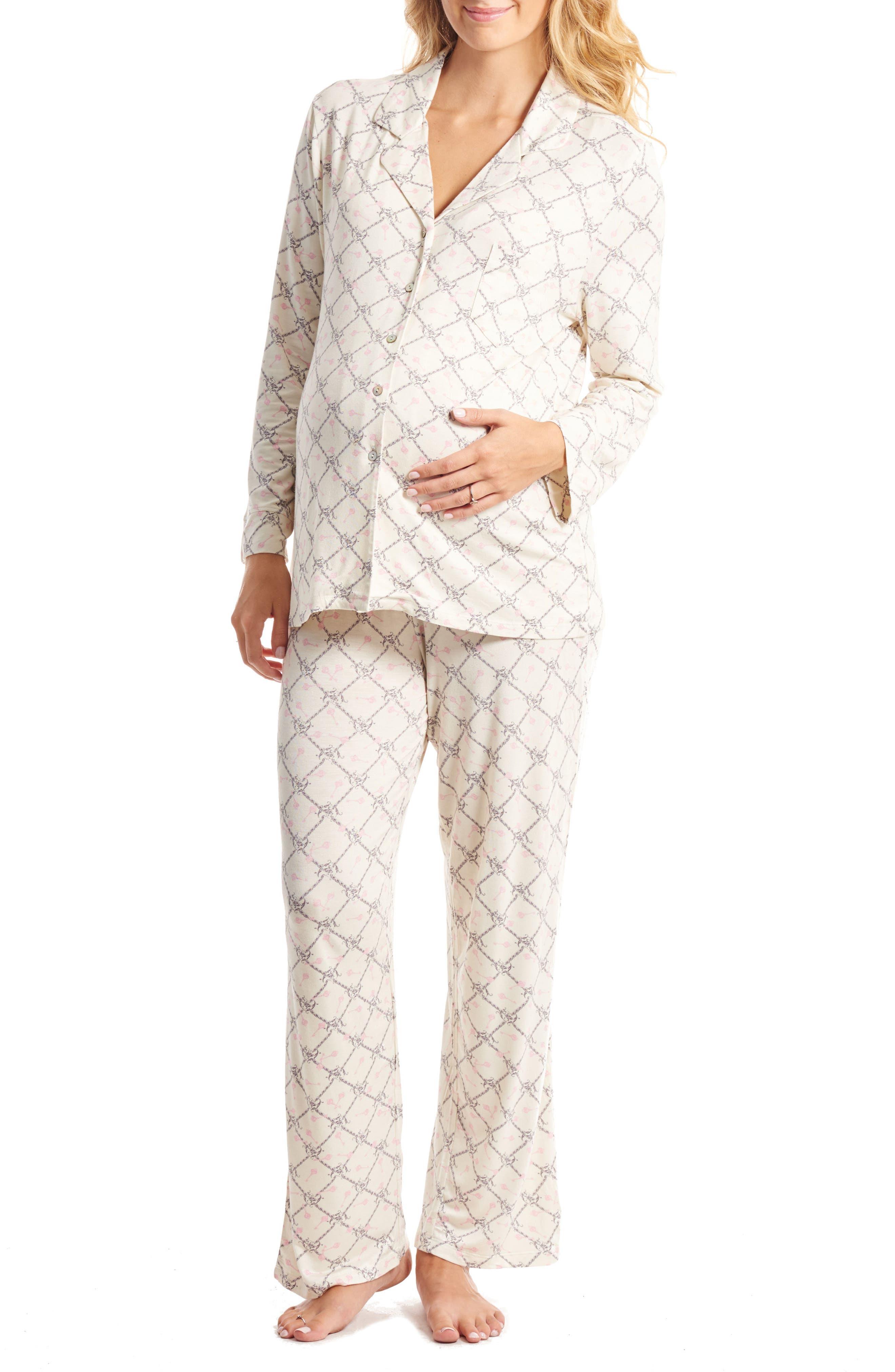 Helena Maternity/Nursing Pajamas,                             Main thumbnail 1, color,                             006