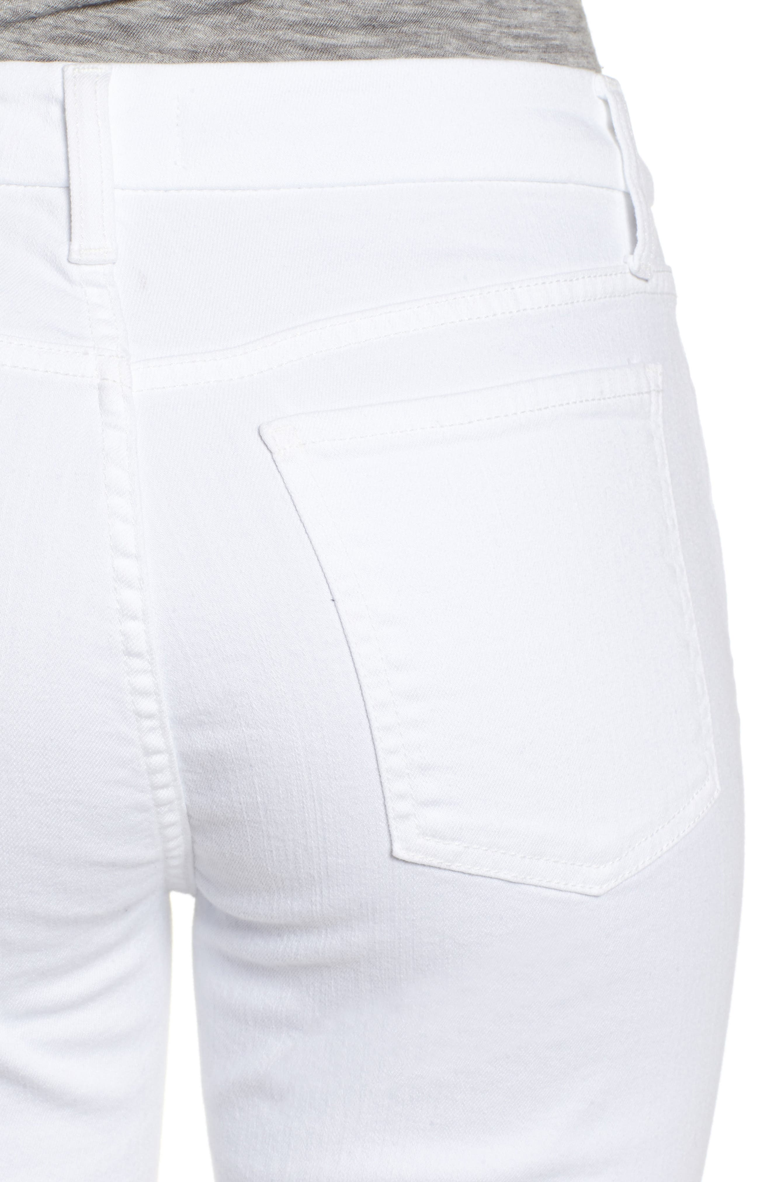 Ankle Skinny Jeans,                             Alternate thumbnail 4, color,                             WHITE FASION
