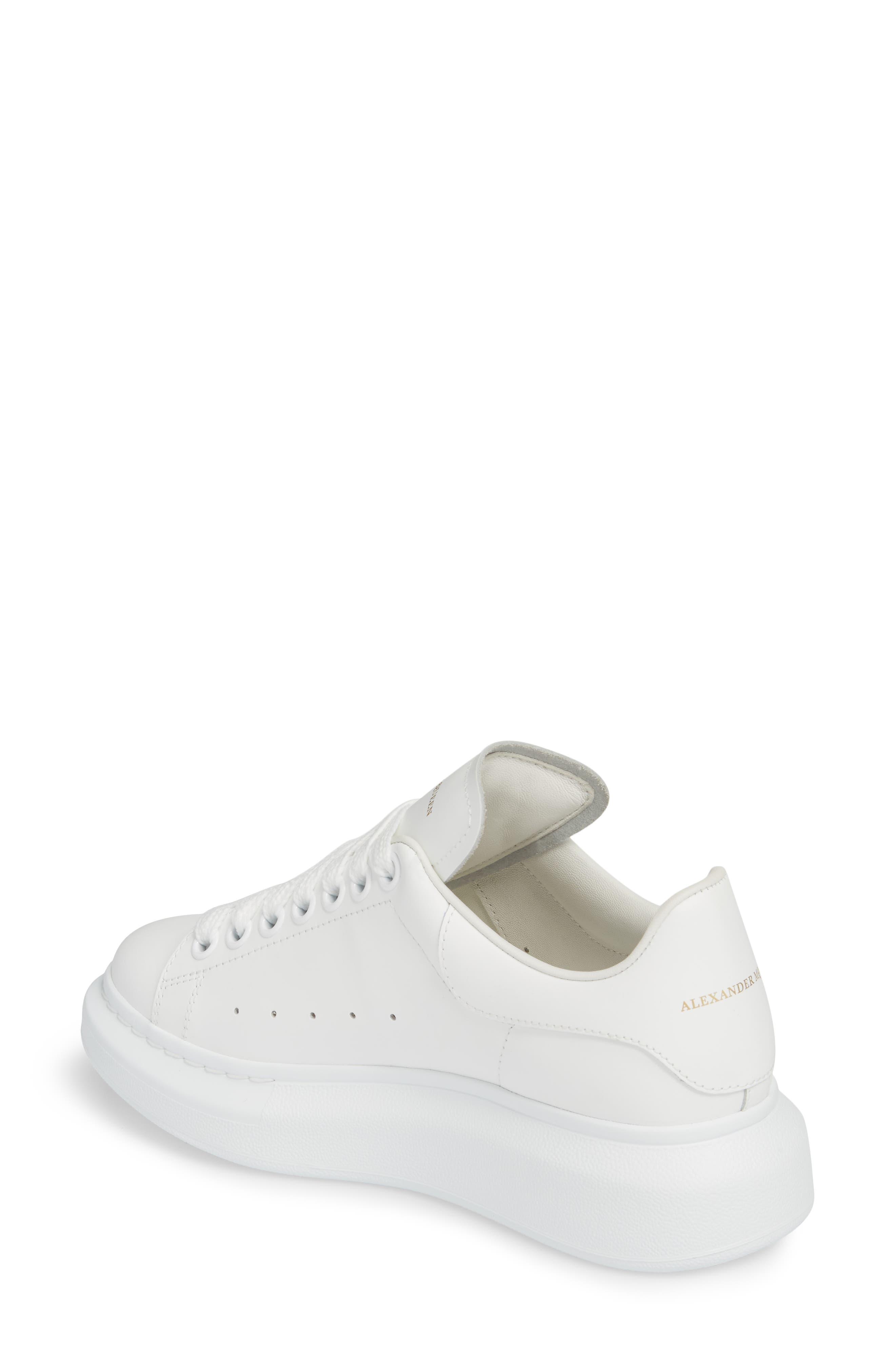 ALEXANDER MCQUEEN,                             Sneaker,                             Alternate thumbnail 2, color,                             WHITE/ WHITE