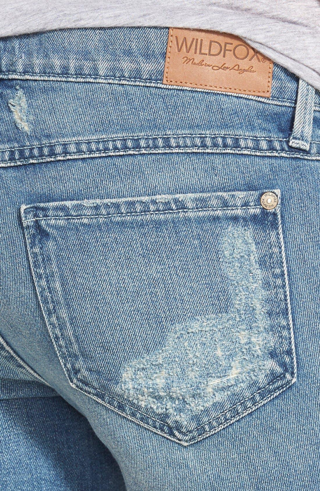 'Sawyer' Cutoff Denim Shorts,                             Alternate thumbnail 2, color,                             400