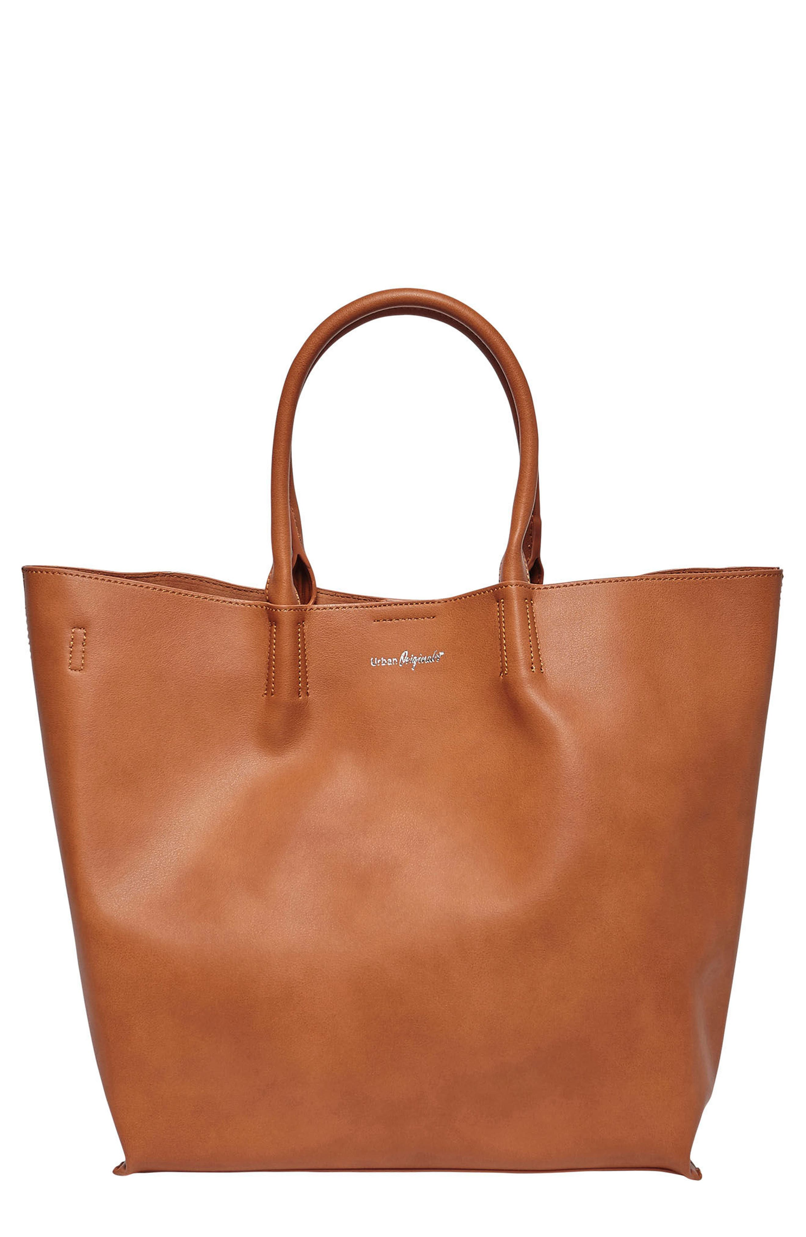 Butterfly Vegan Leather Tote,                             Main thumbnail 1, color,