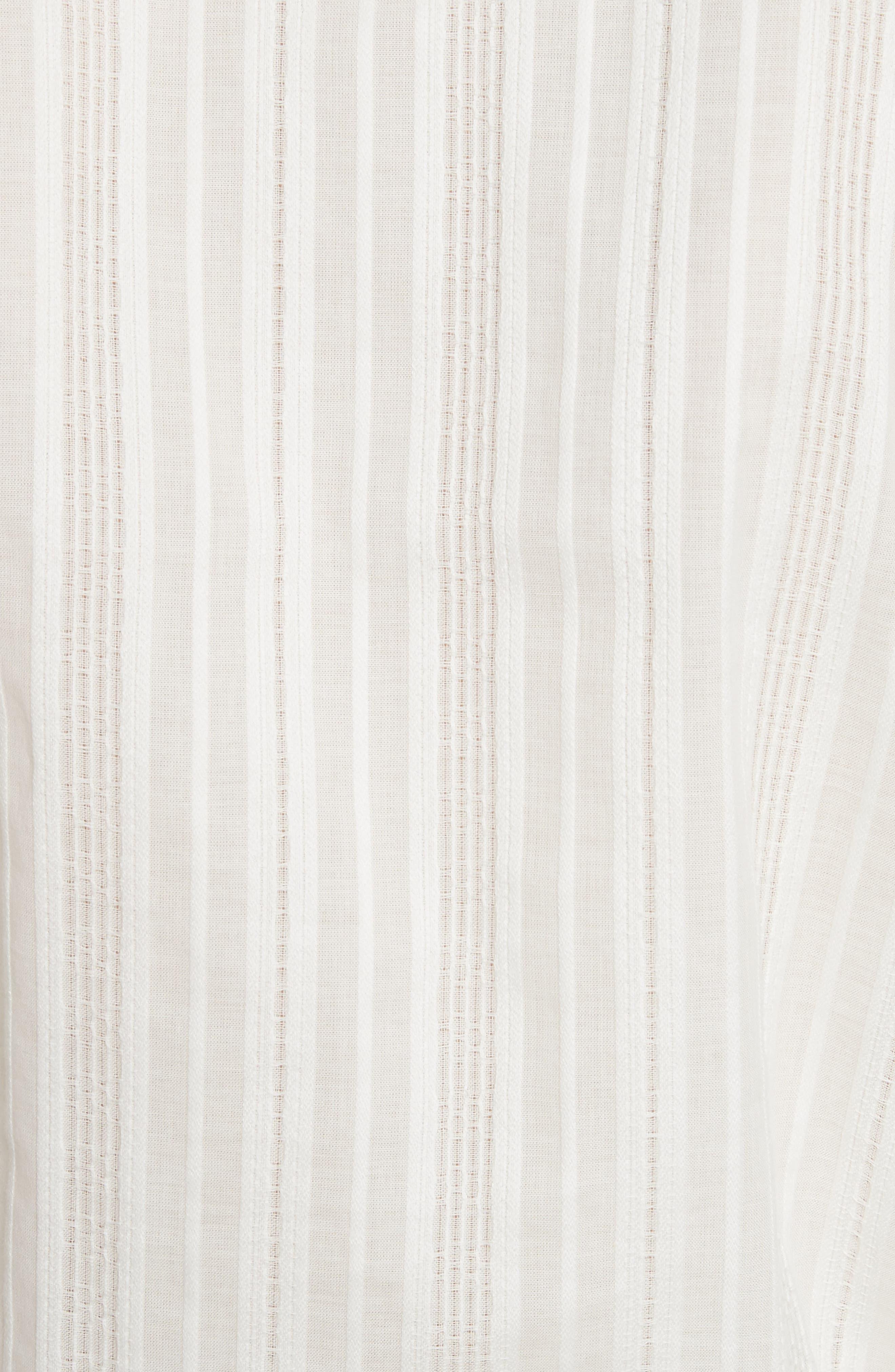 Stripe Drape Front Blouse,                             Alternate thumbnail 5, color,                             900