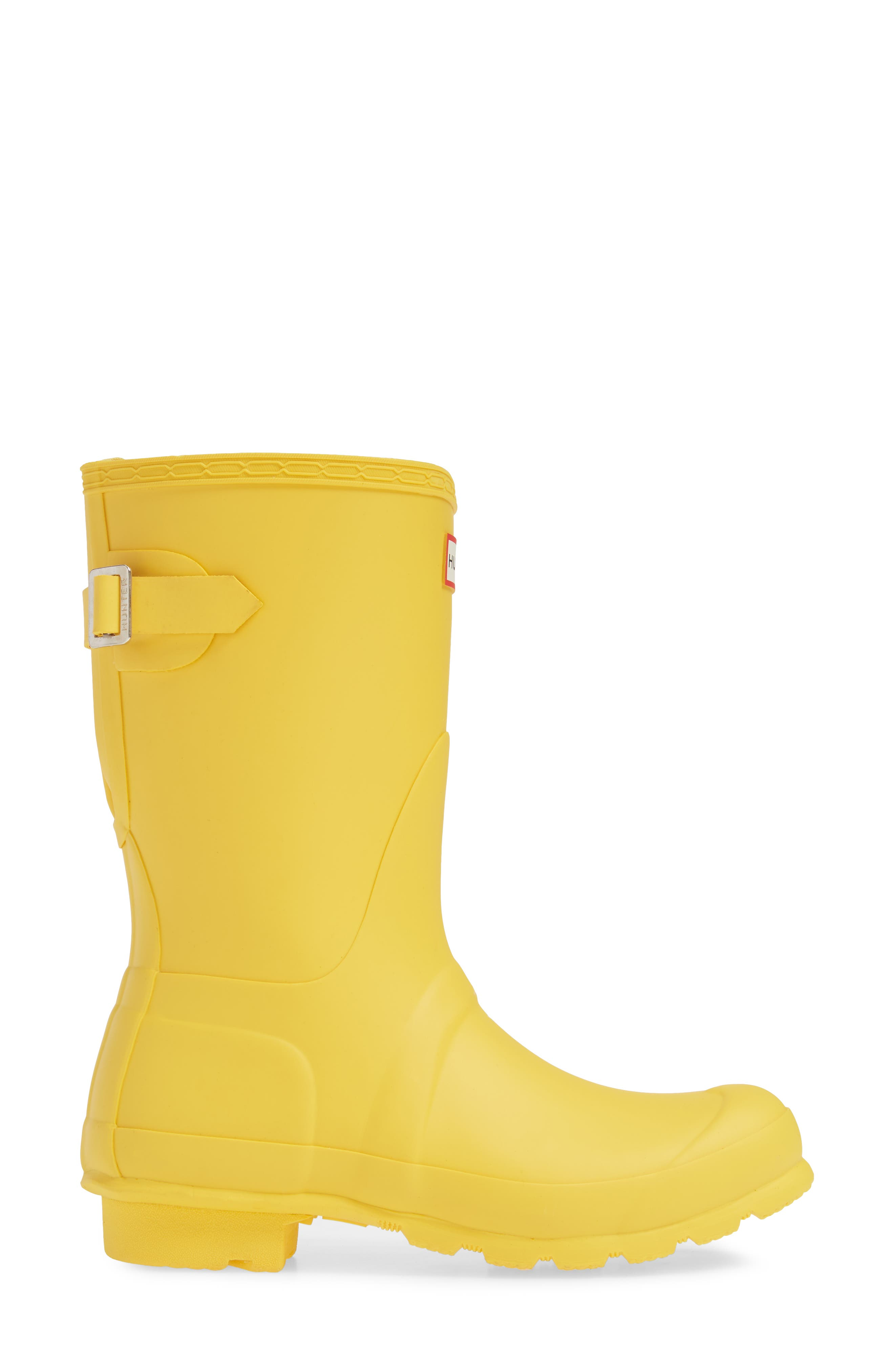 Original Short Back Adjustable Rain Boot,                             Alternate thumbnail 3, color,                             YELLOW