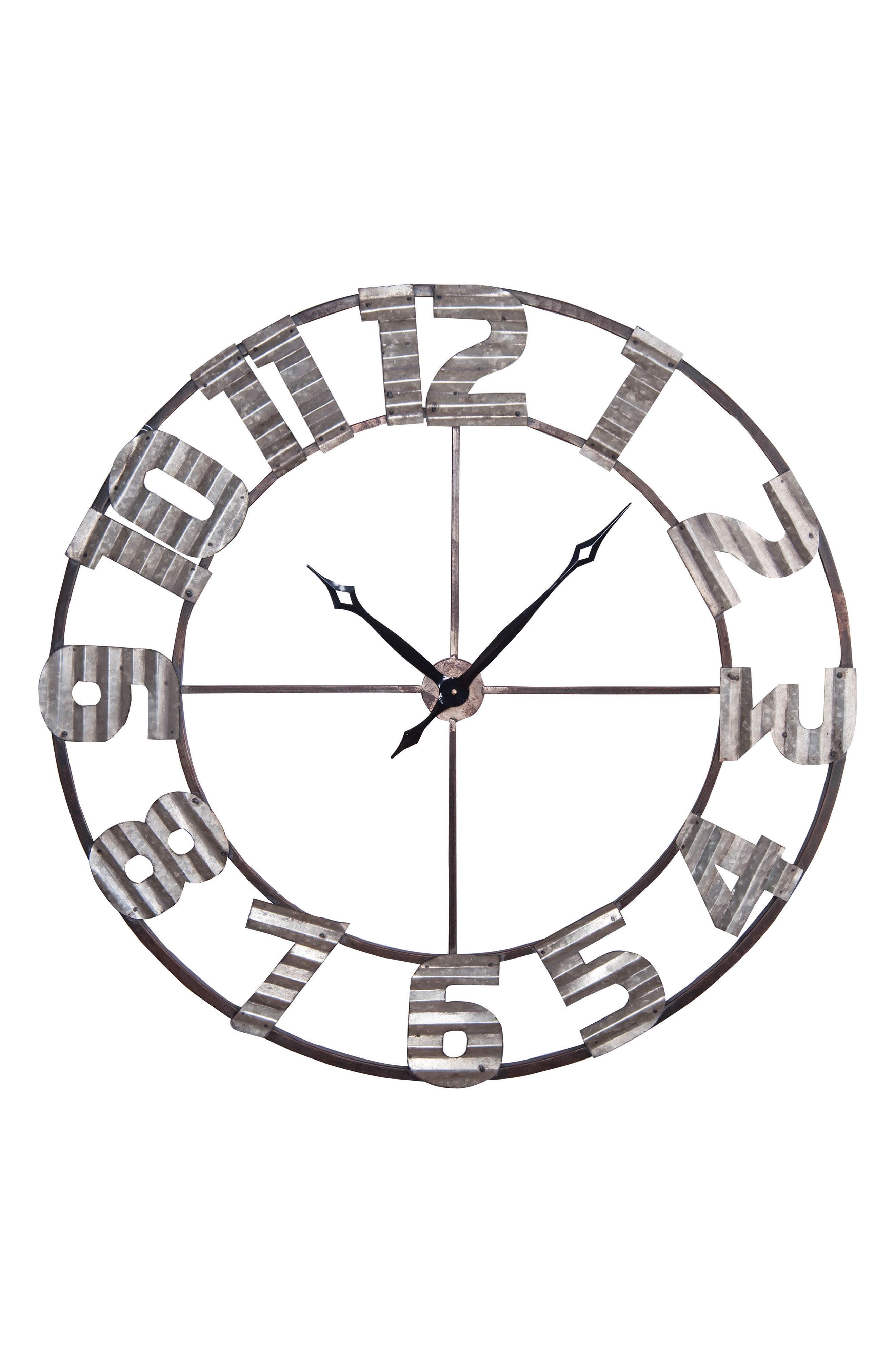 Ashville Corrugated Wall Clock,                         Main,                         color, 200
