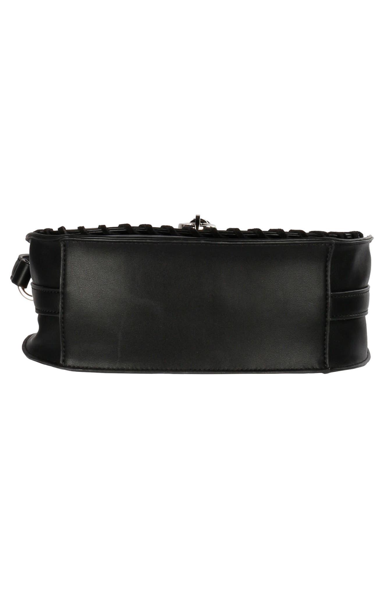 Céline Dion Espressivo Faux Leather Saddle Bag,                             Alternate thumbnail 5, color,                             001