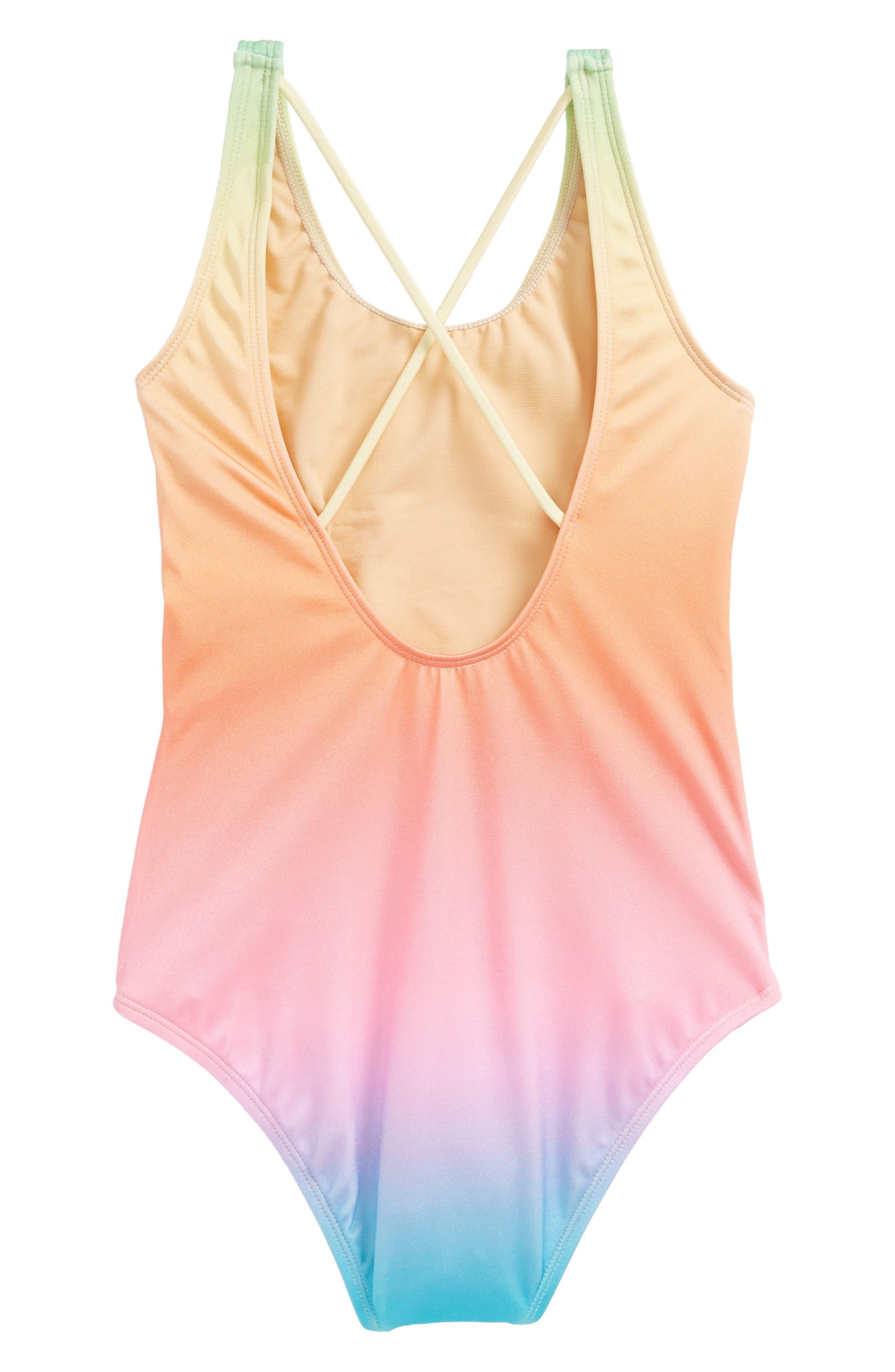 Teen Spirit Sun Kissed One-Piece Swimsuit,                             Alternate thumbnail 2, color,                             441