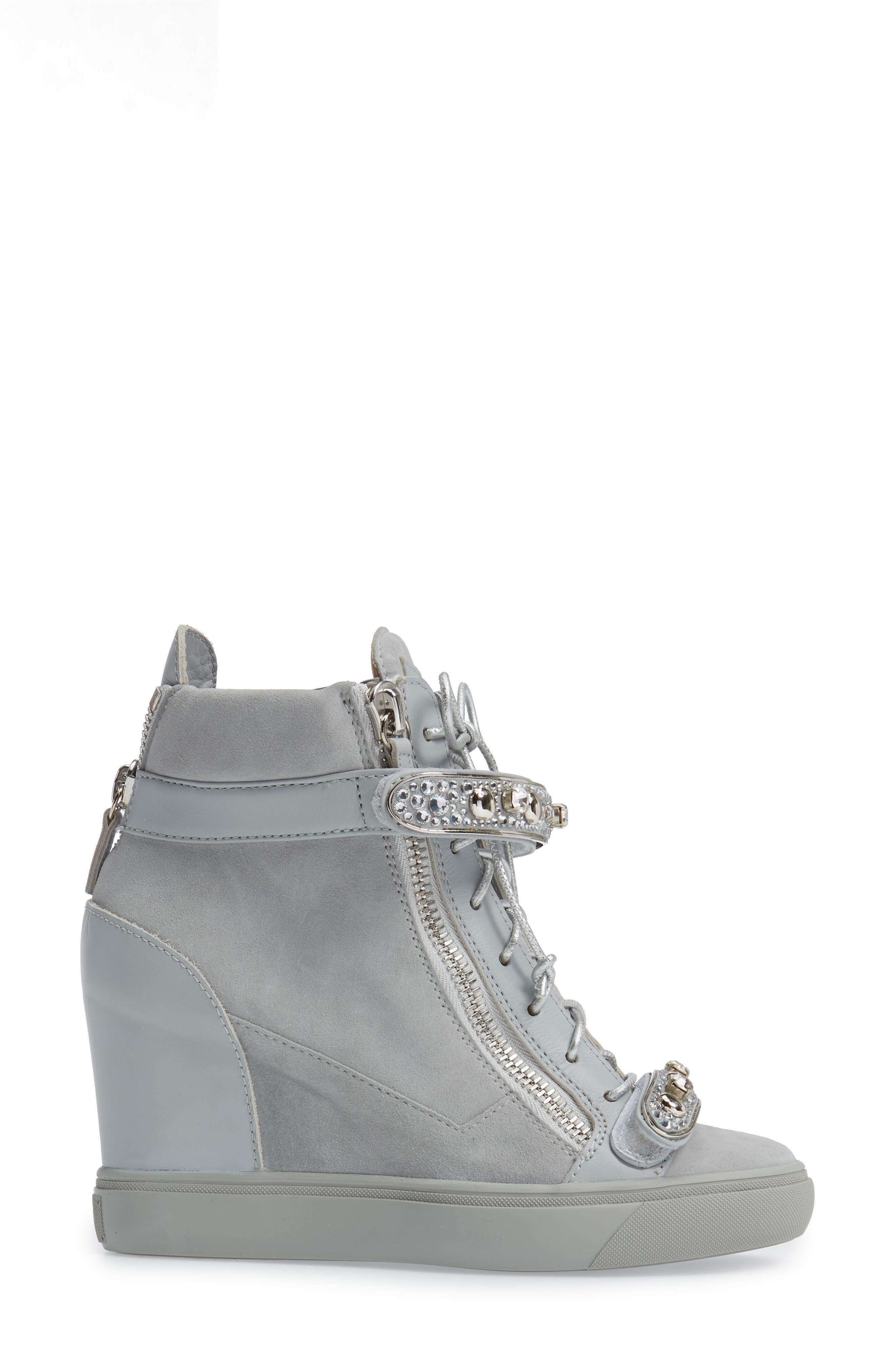 Giuseppe for Jennifer Lopez Tiana Hidden Wedge Sneaker,                             Alternate thumbnail 5, color,