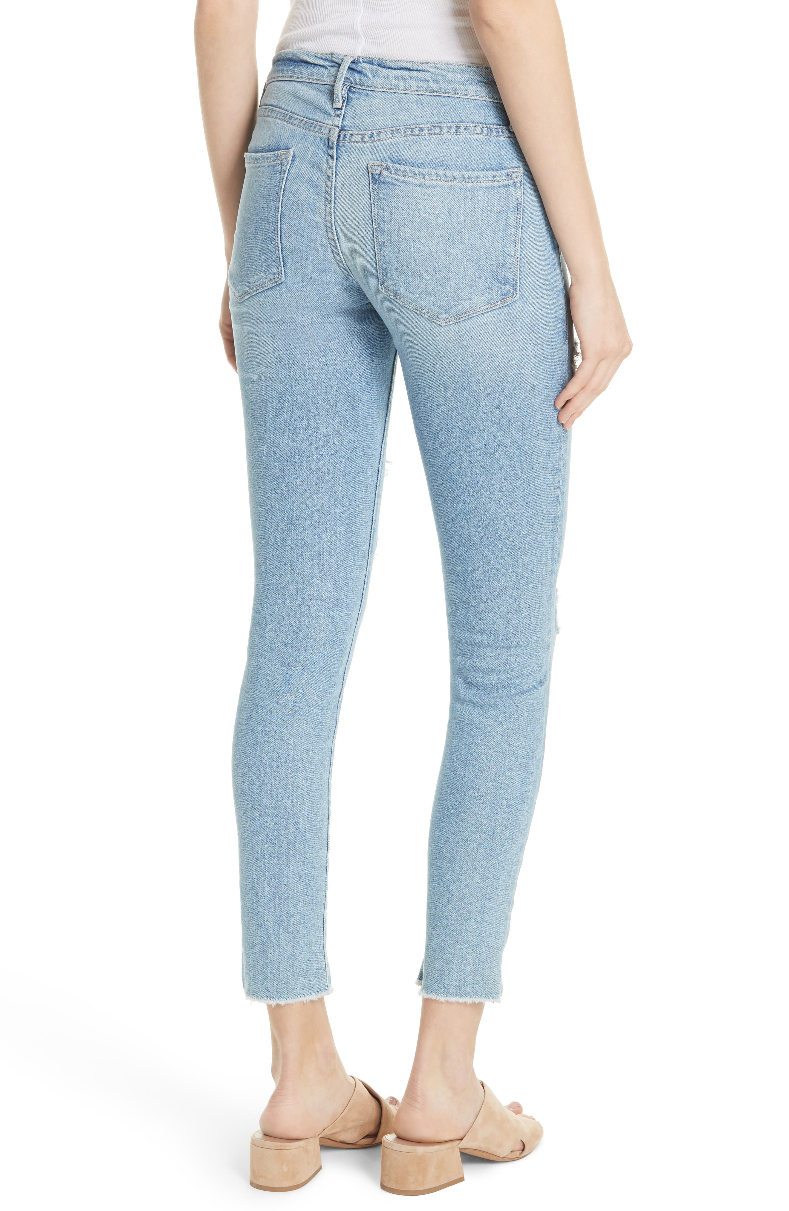 Le Skinny de Jeanne Split Hem Jeans,                             Alternate thumbnail 2, color,                             HIGHGATE