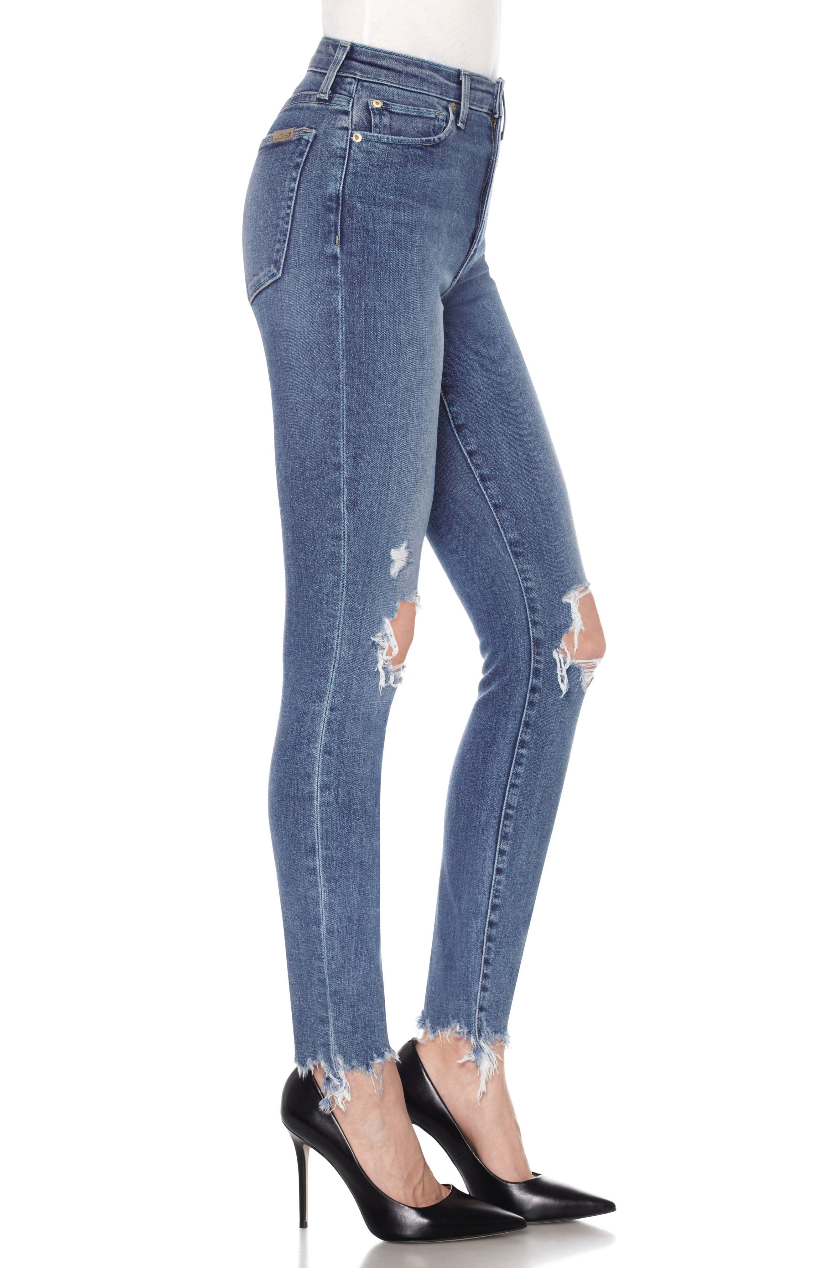 Charlie Ankle Skinny Jeans,                             Alternate thumbnail 3, color,                             415