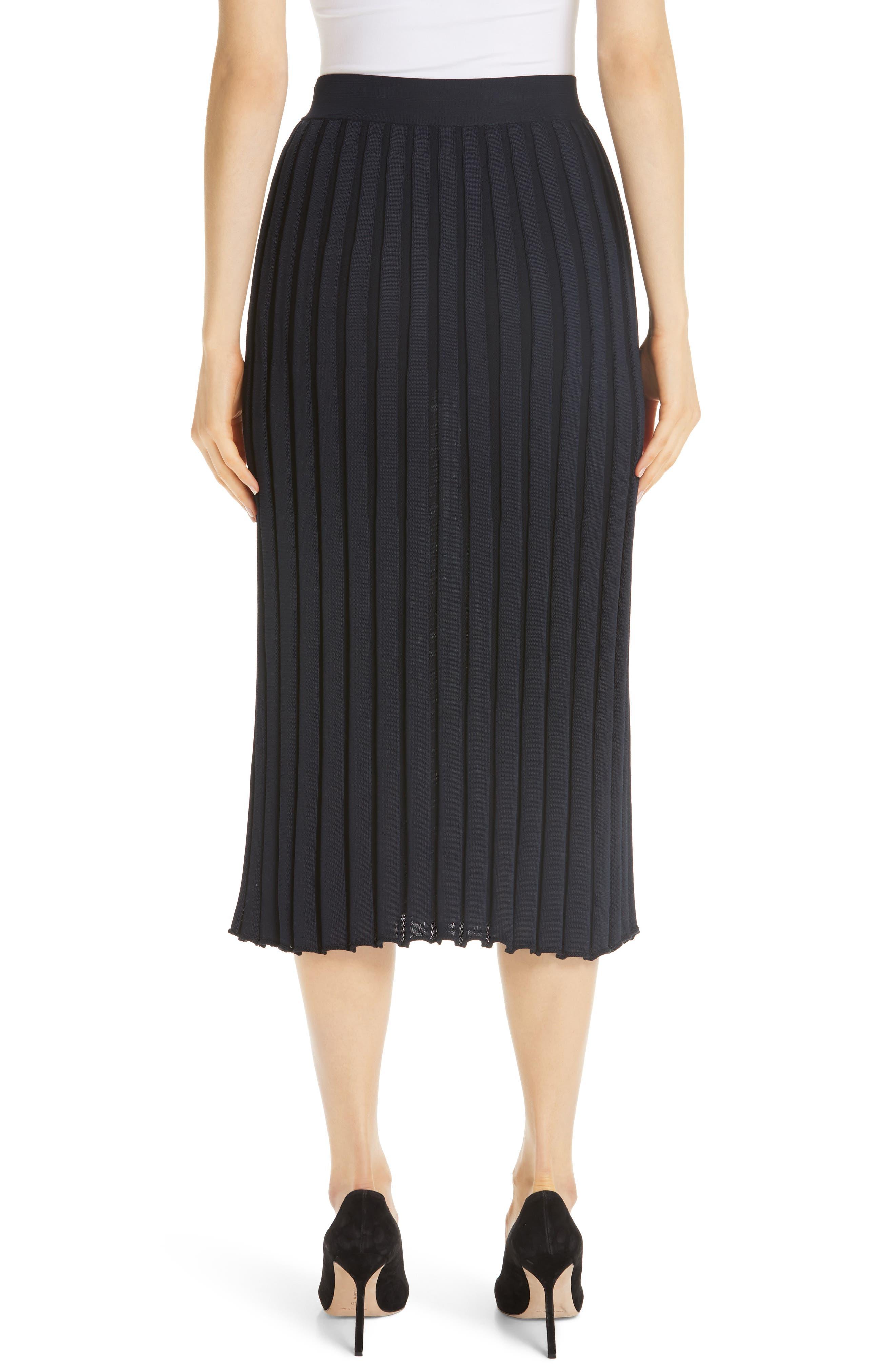 Metropolitan Shine Plaited Rib Skirt,                             Alternate thumbnail 2, color,                             400