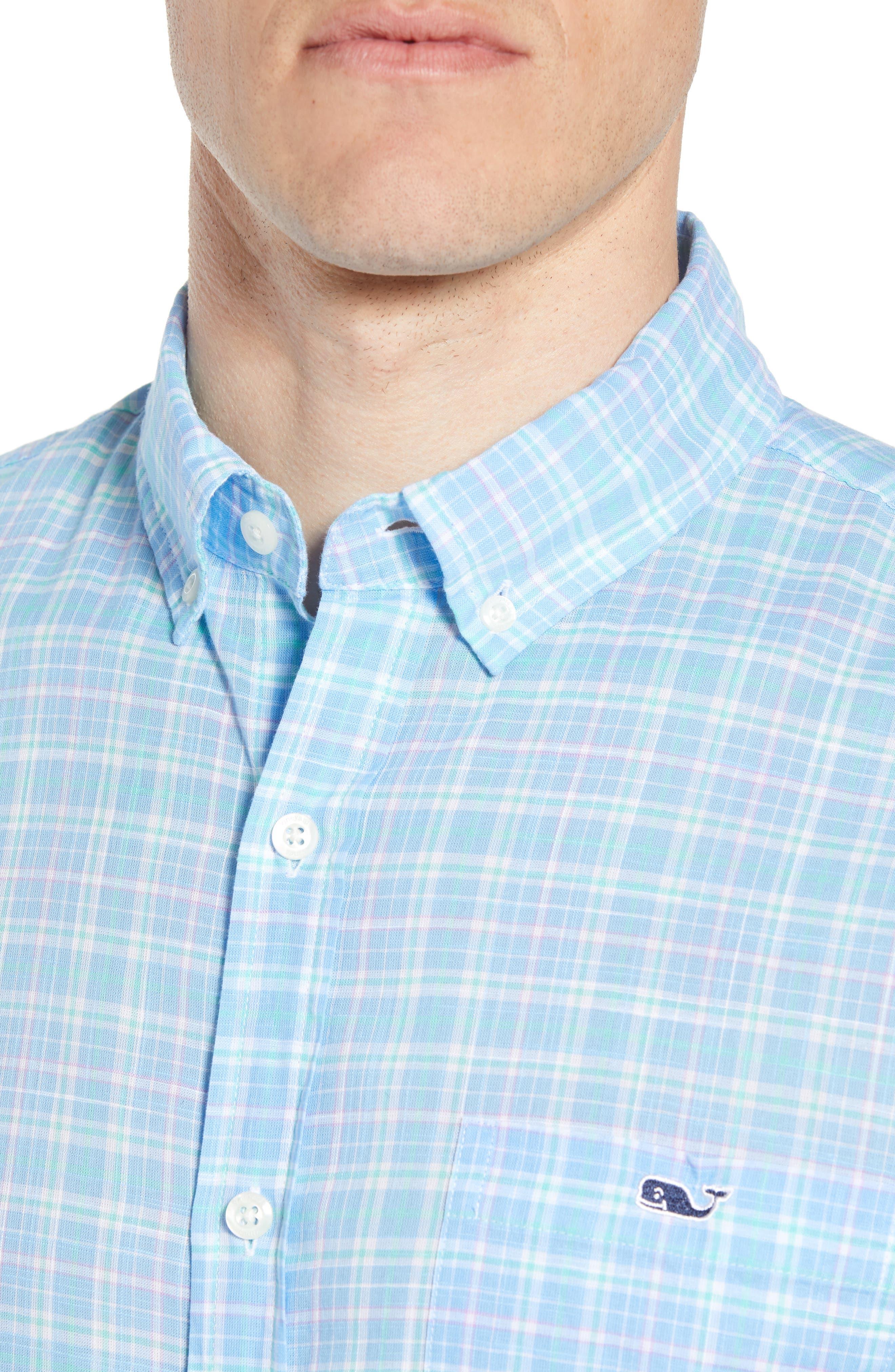 Stoney Hill Tucker Classic Fit Plaid Sport Shirt,                             Alternate thumbnail 2, color,                             415