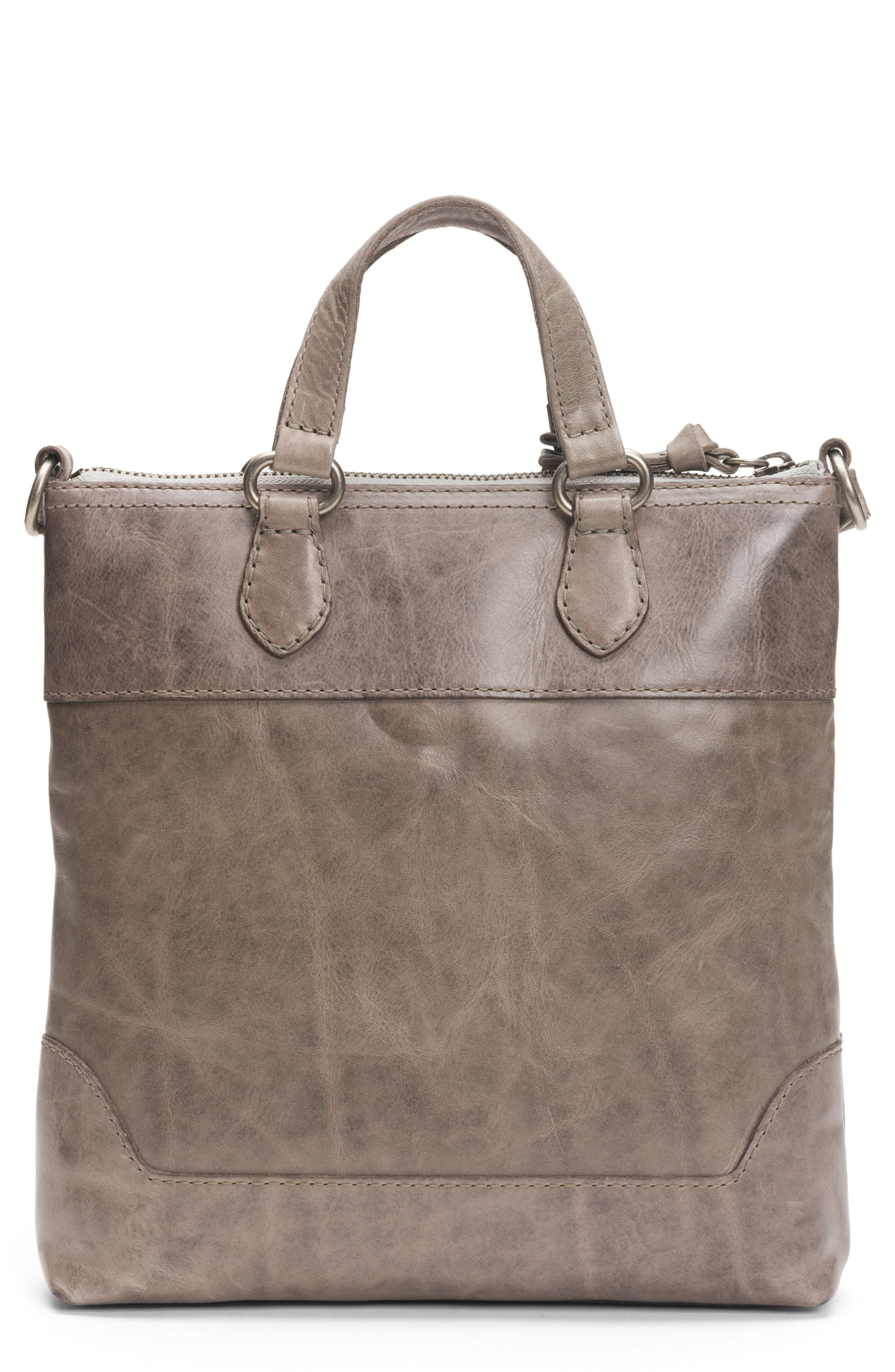 Melissa Small Leather Tote,                             Alternate thumbnail 3, color,                             ICE